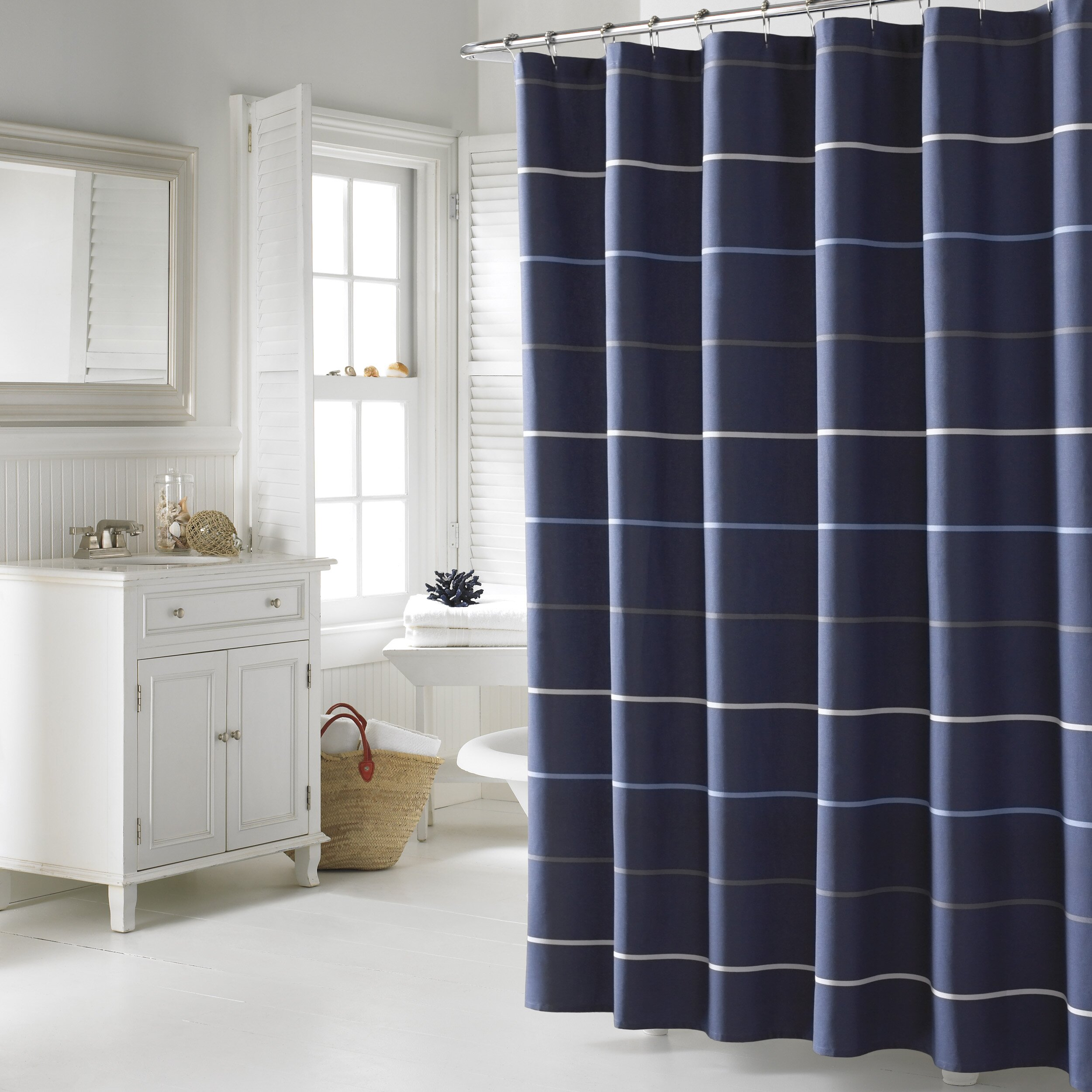 nautica southport cotton shower curtain reviews wayfair