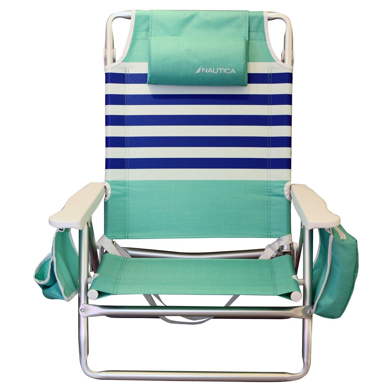 Nautica Stripe Beach Chair with Cushions