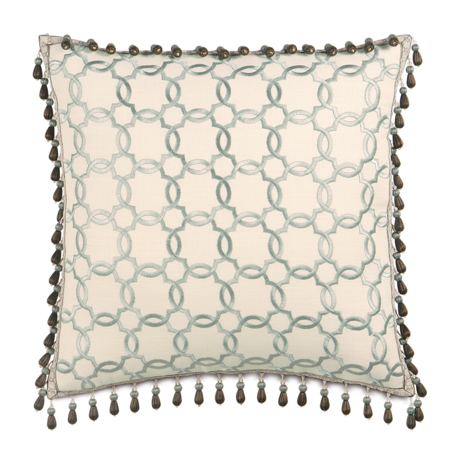 Decorative Pillow Trim : Eastern Accents Kira Verlaine Beaded Trim Throw Pillow Wayfair