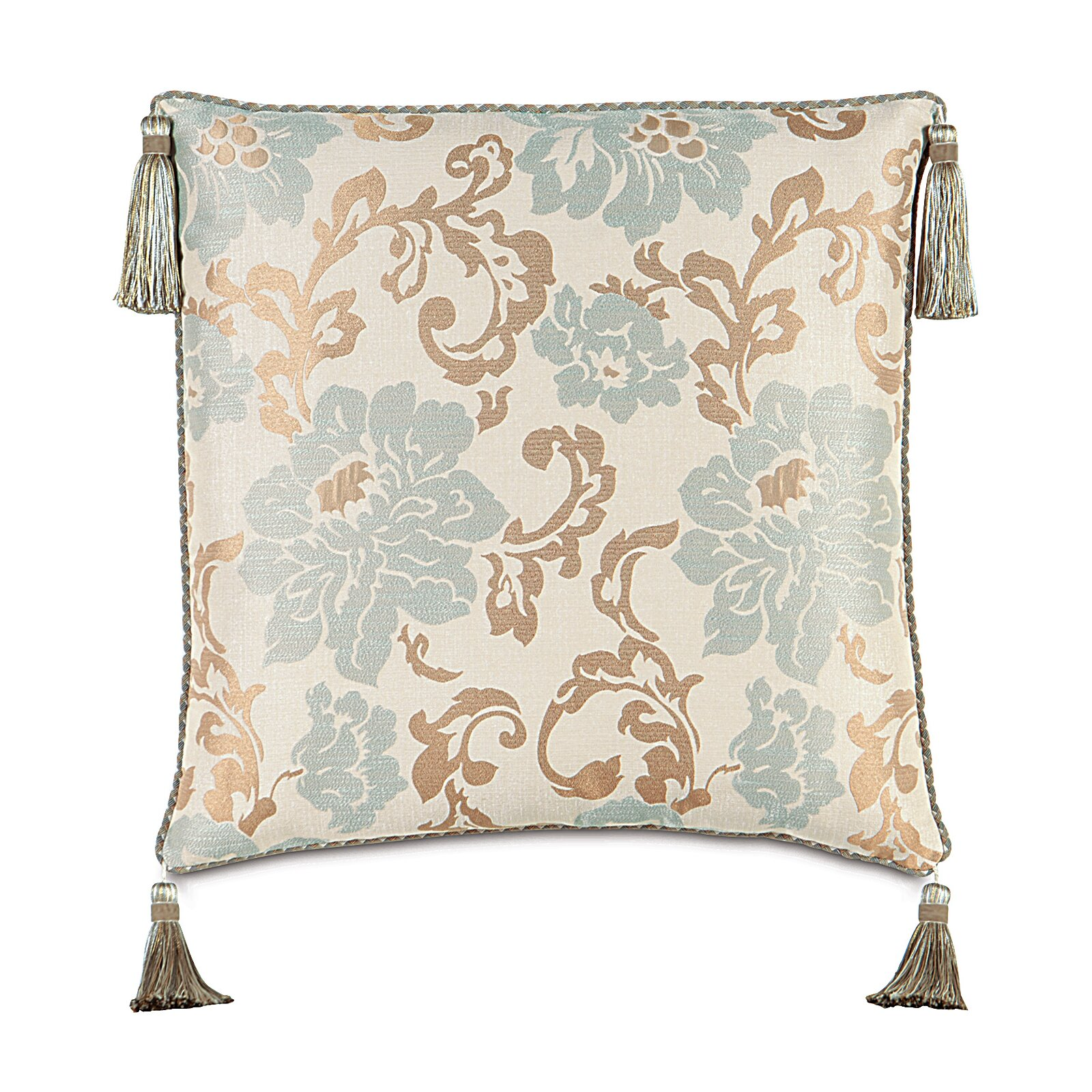 Decorative Pillows With Tassels : Eastern Accents Kinsey Cord and Tassels Euro Pillow Wayfair