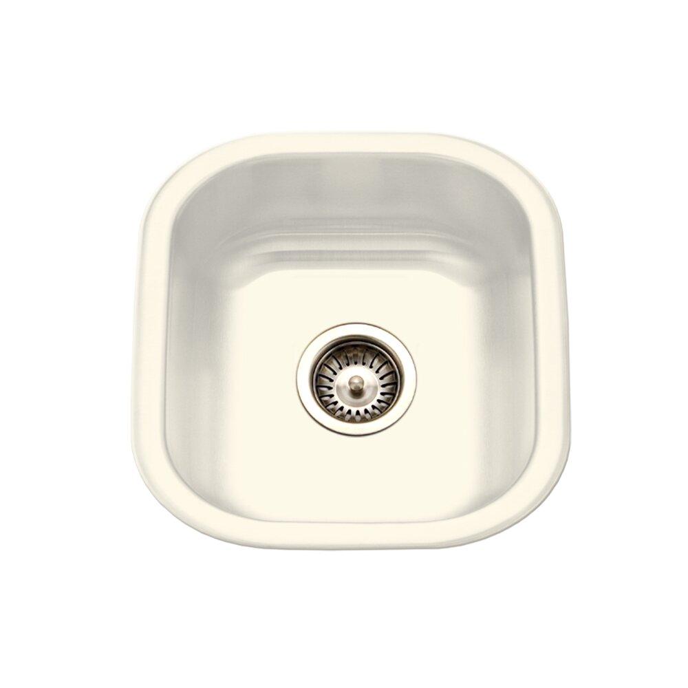Houzer Porcela X Porcelain Enamel Steel Undermount Bar Sink Reviews Wayfair