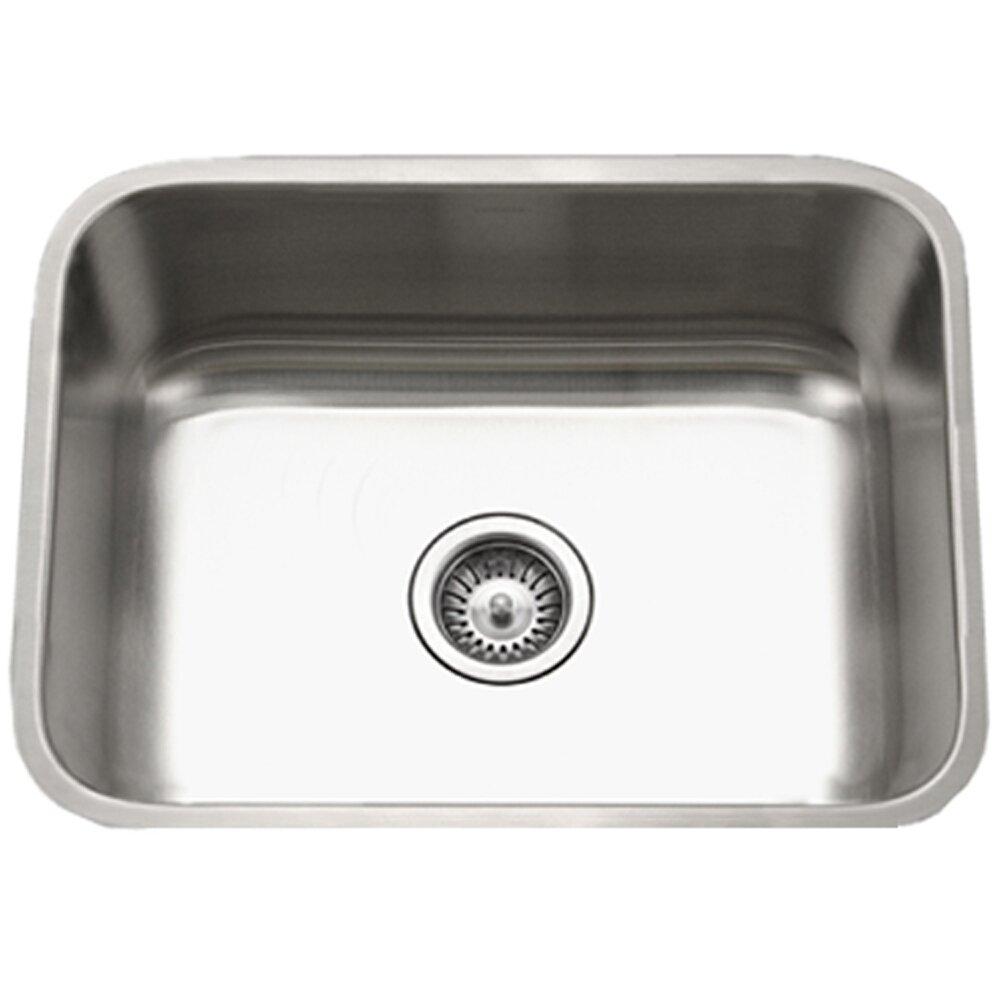 Houzer Eston 23 X Undermount Rectangular Single Bowl Kitchen Sink Reviews Wayfair