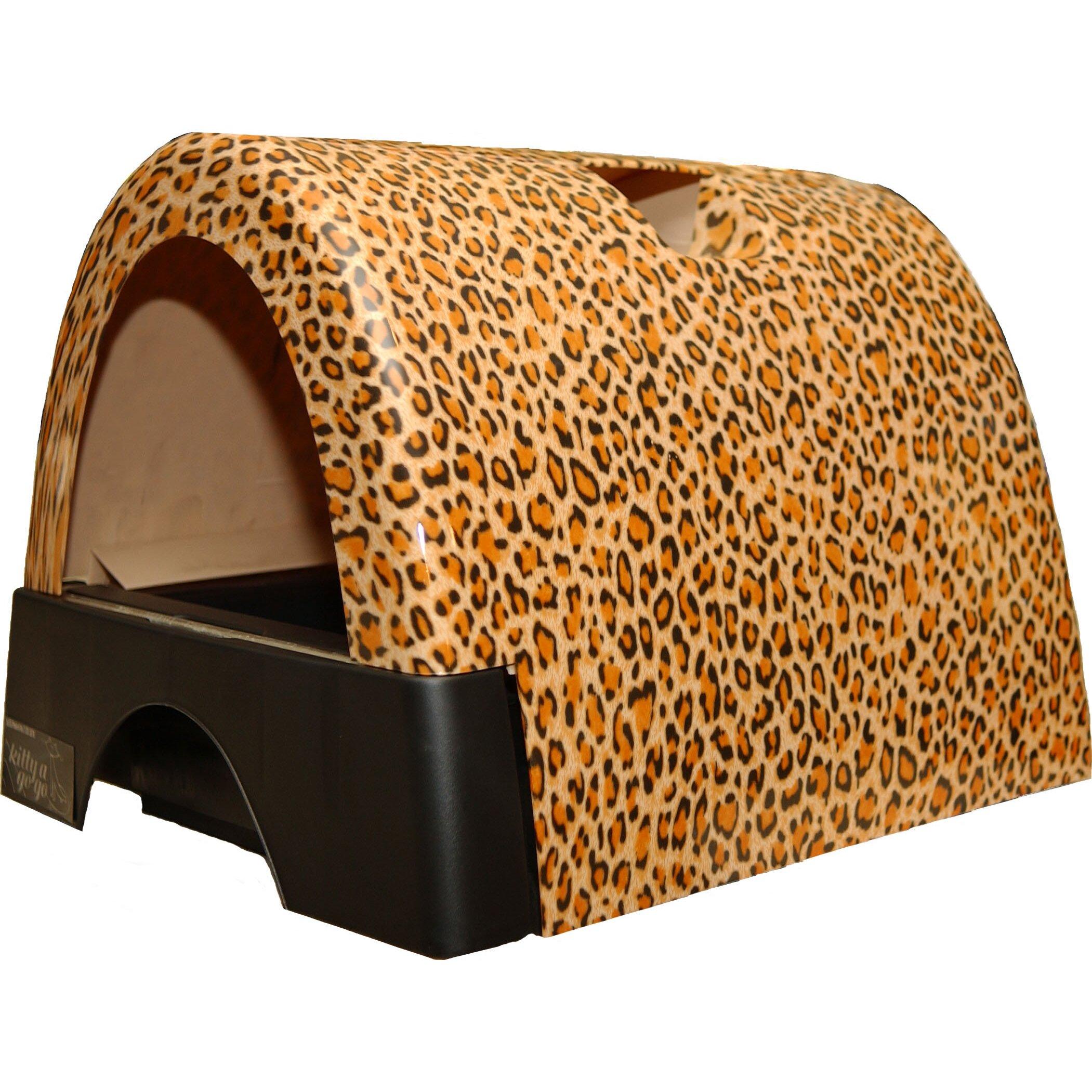 kittyagogo designer cat litter box with new leopard print cover reviews wayfair. Black Bedroom Furniture Sets. Home Design Ideas