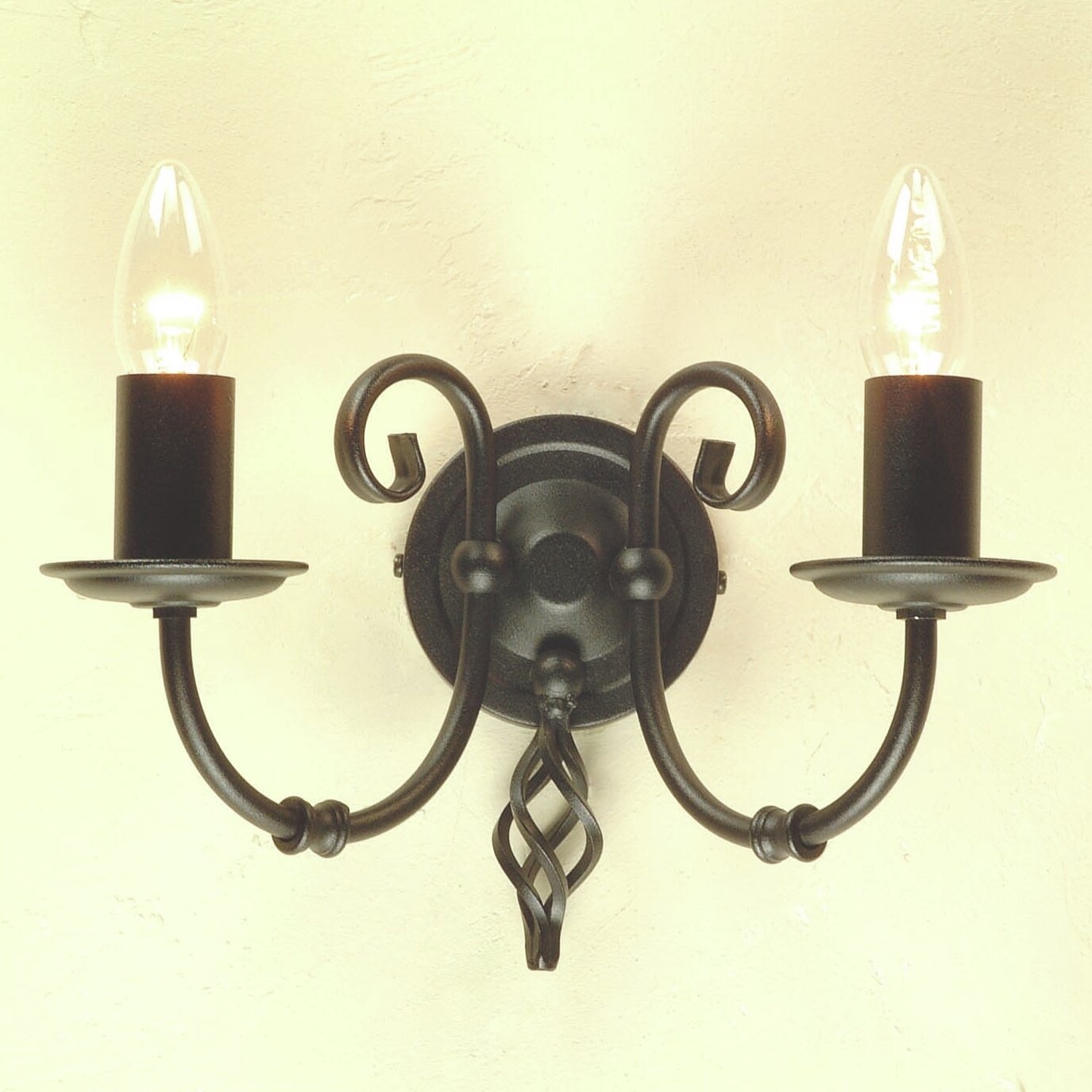 Glass Candle Wall Lights : Elstead Lighting Artisan 2 Light Candle Wall Light & Reviews Wayfair UK