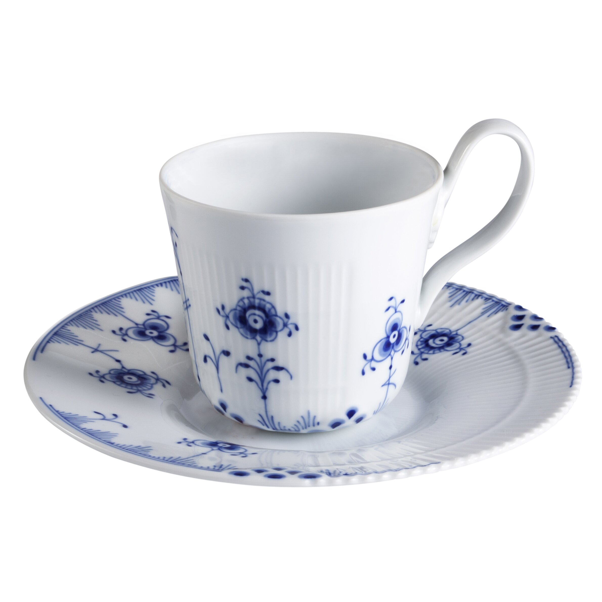 royal copenhagen blue elements high handle cup and saucer wayfair. Black Bedroom Furniture Sets. Home Design Ideas