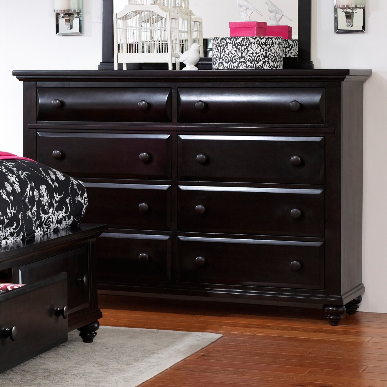 furniture bedroom furniture black dressers broyhill sku brh4989