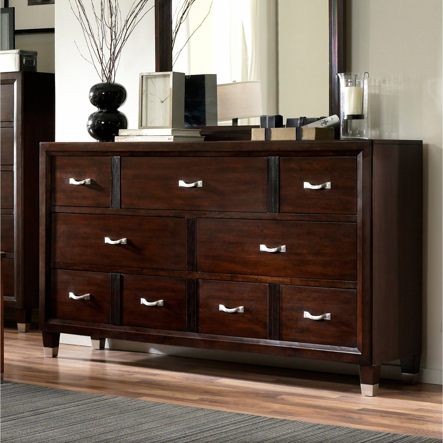 furniture bedroom furniture cherry dressers broyhill sku