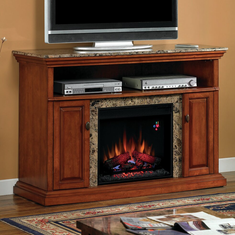 classic flame brighton tv stand with electric fireplace reviews wayfair. Black Bedroom Furniture Sets. Home Design Ideas