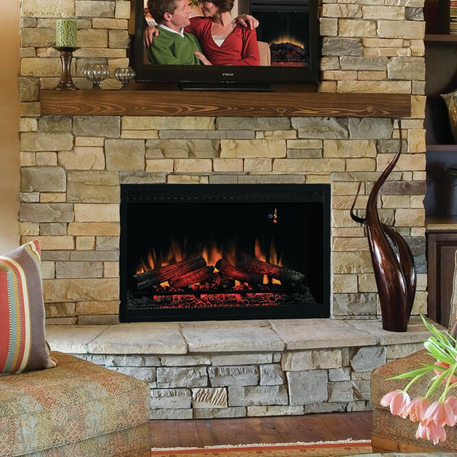 Classic Flame 36 Built In Wall Mount Electric Fireplace