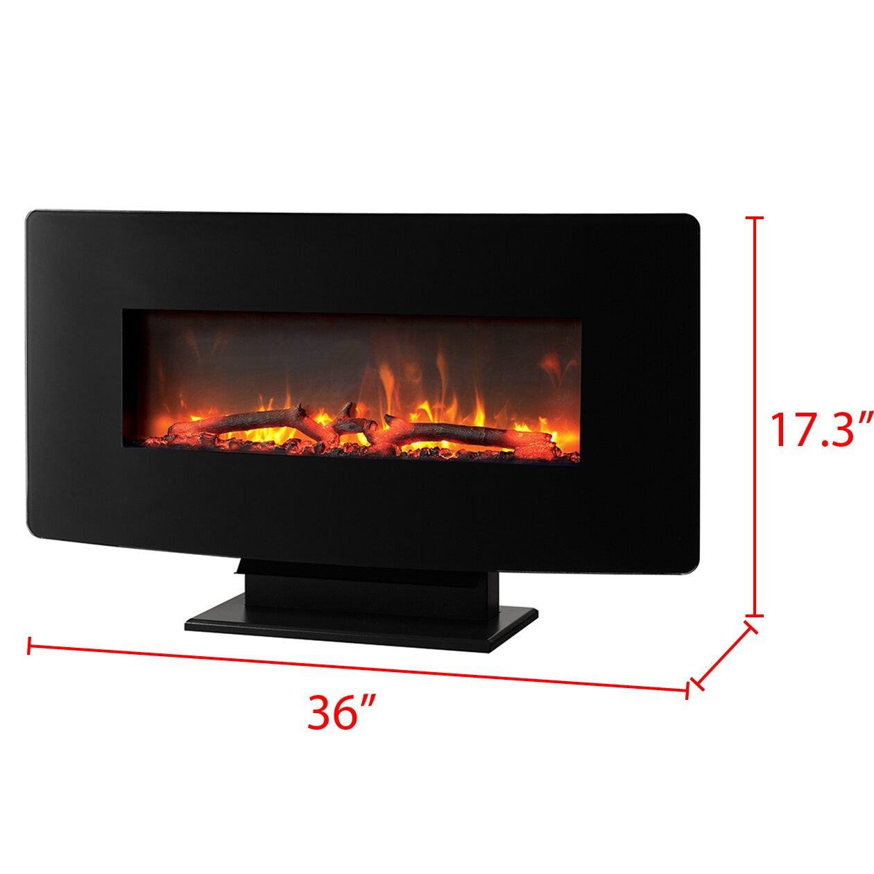 muskoka wall mount electric fireplace reviews wayfair