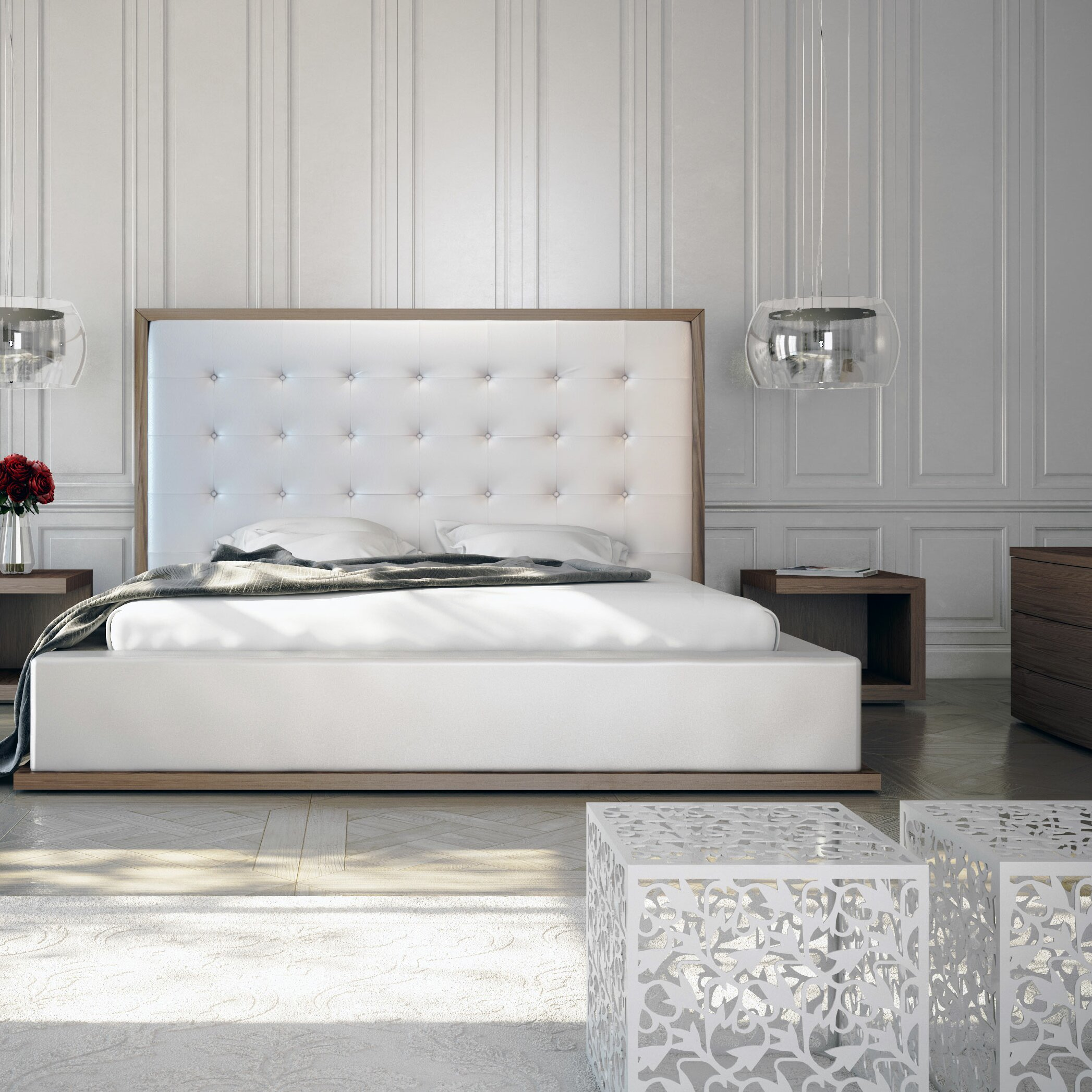 Modloft Ludlow Upholstered Platform Bed Amp Reviews Wayfair