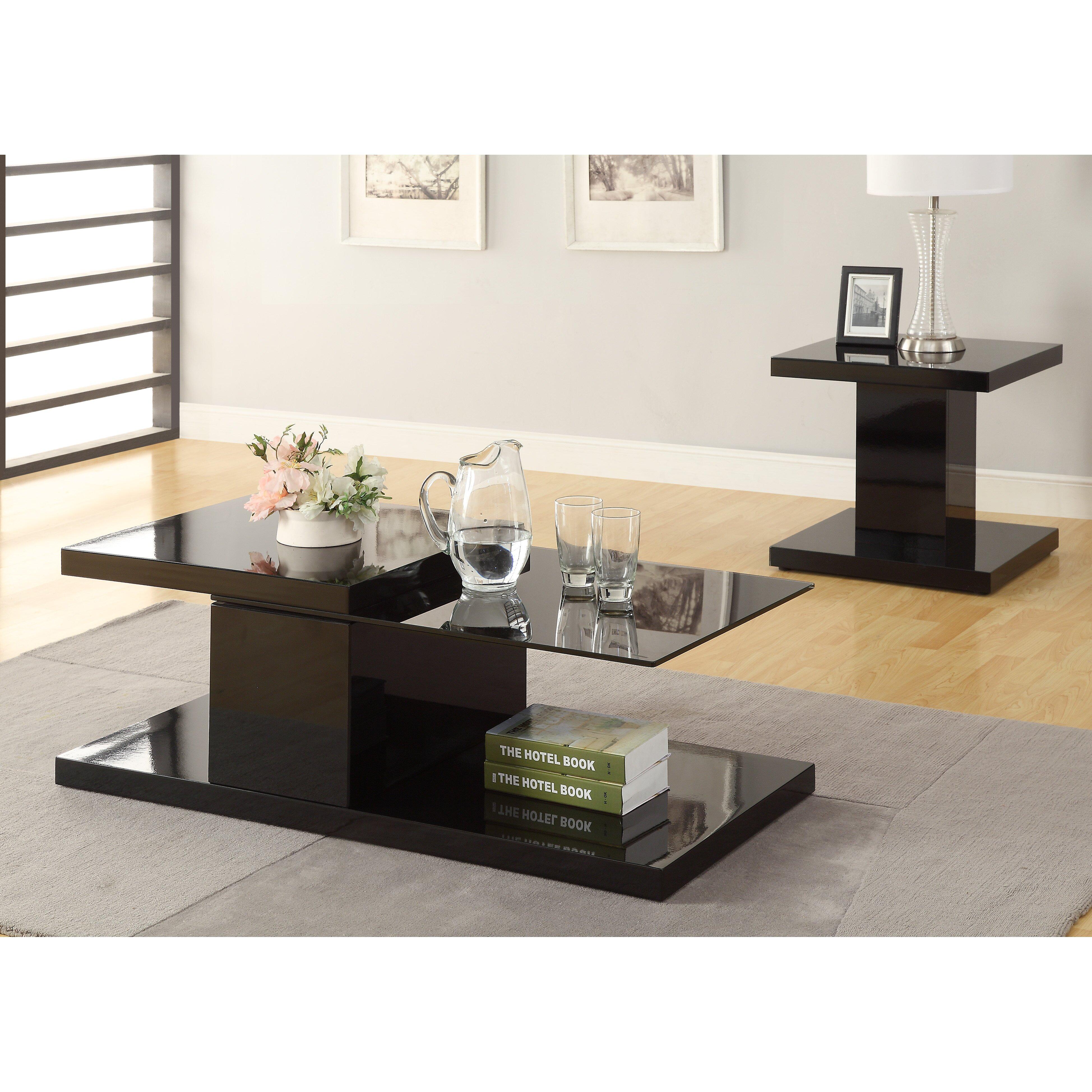 Hokku Designs Monda Swivel Coffee Table Reviews Wayfair