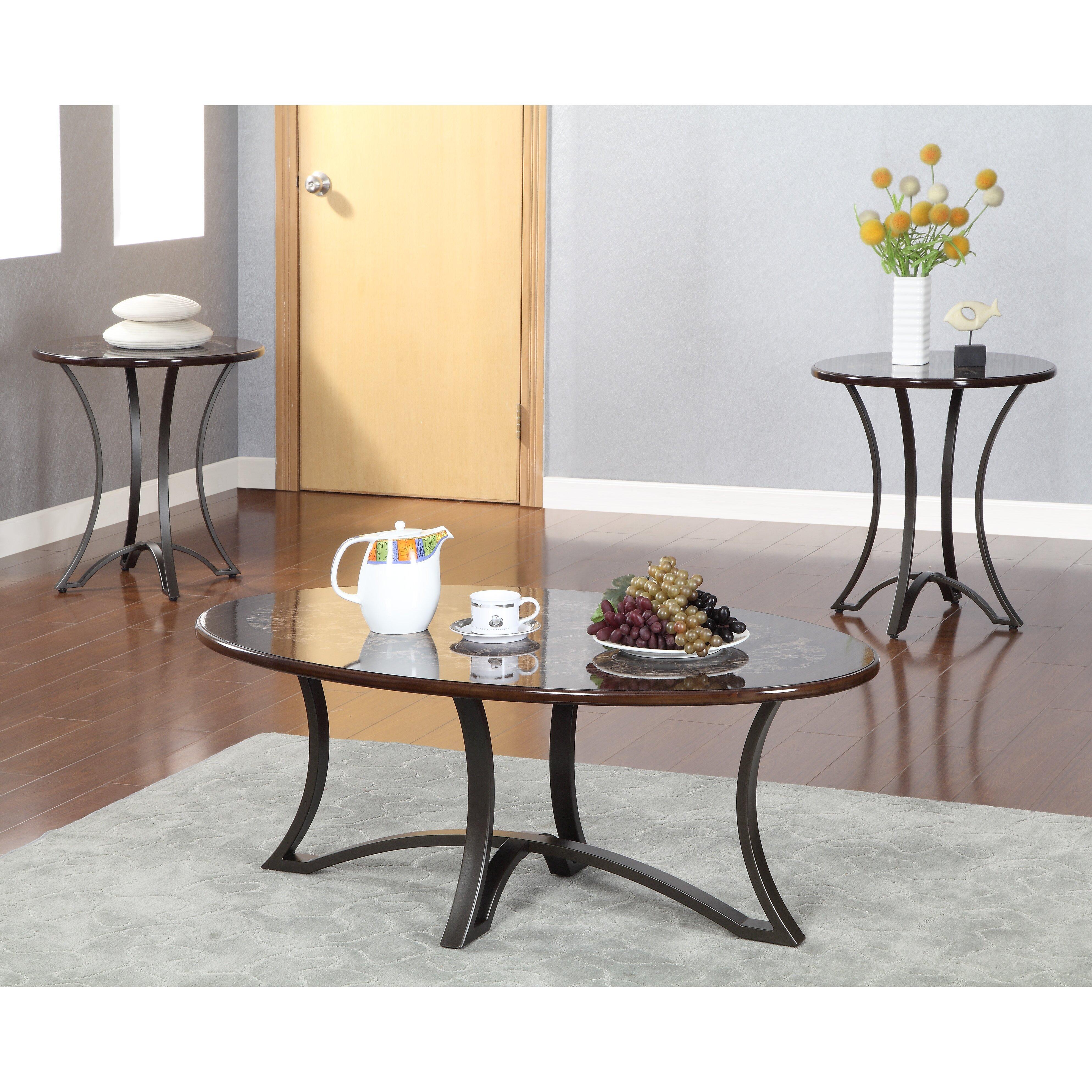 Hokku Designs Borane 3 Piece Coffee Table Set Wayfair