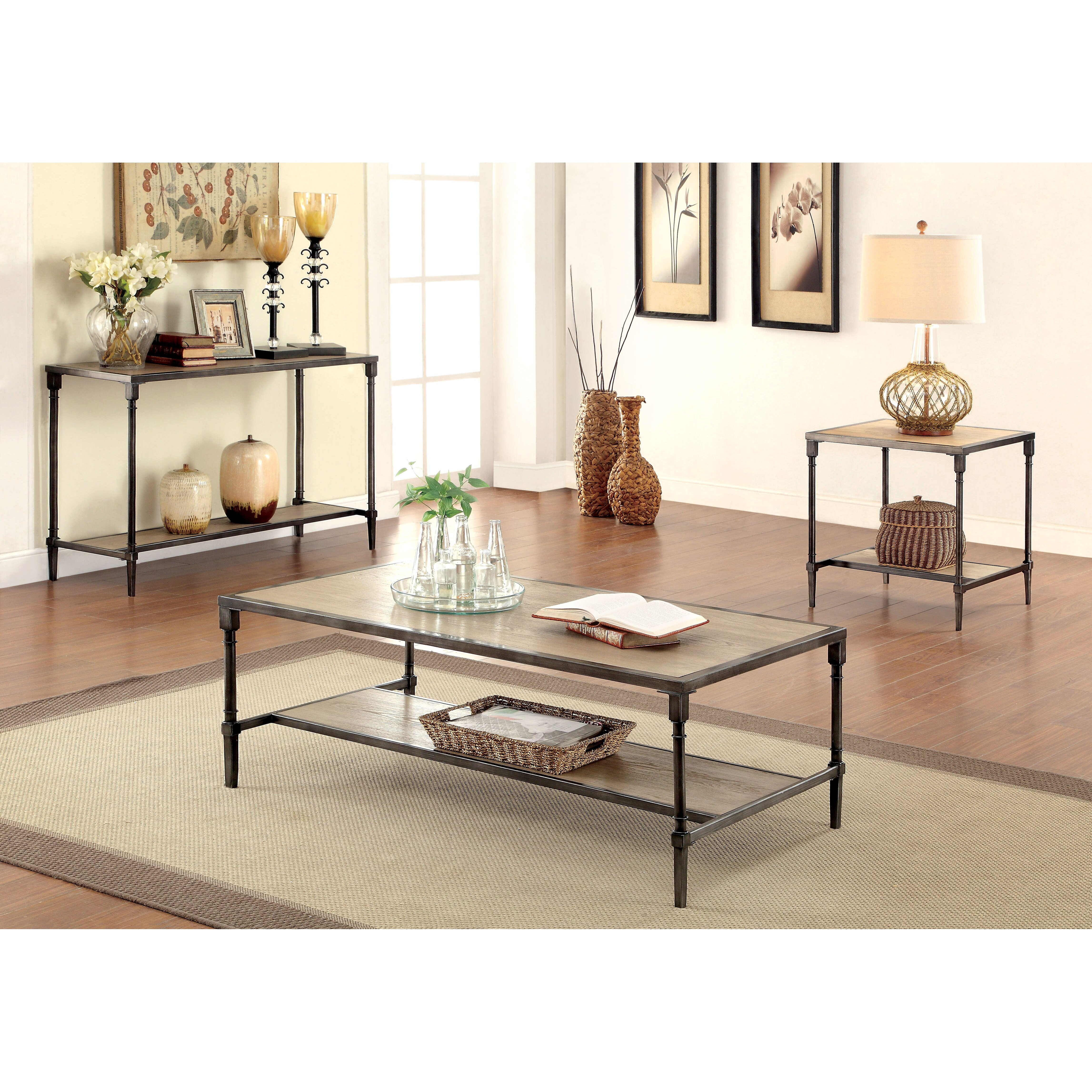 Hokku Coffee Table Sets: Hokku Designs Leons Coffee Table Set & Reviews