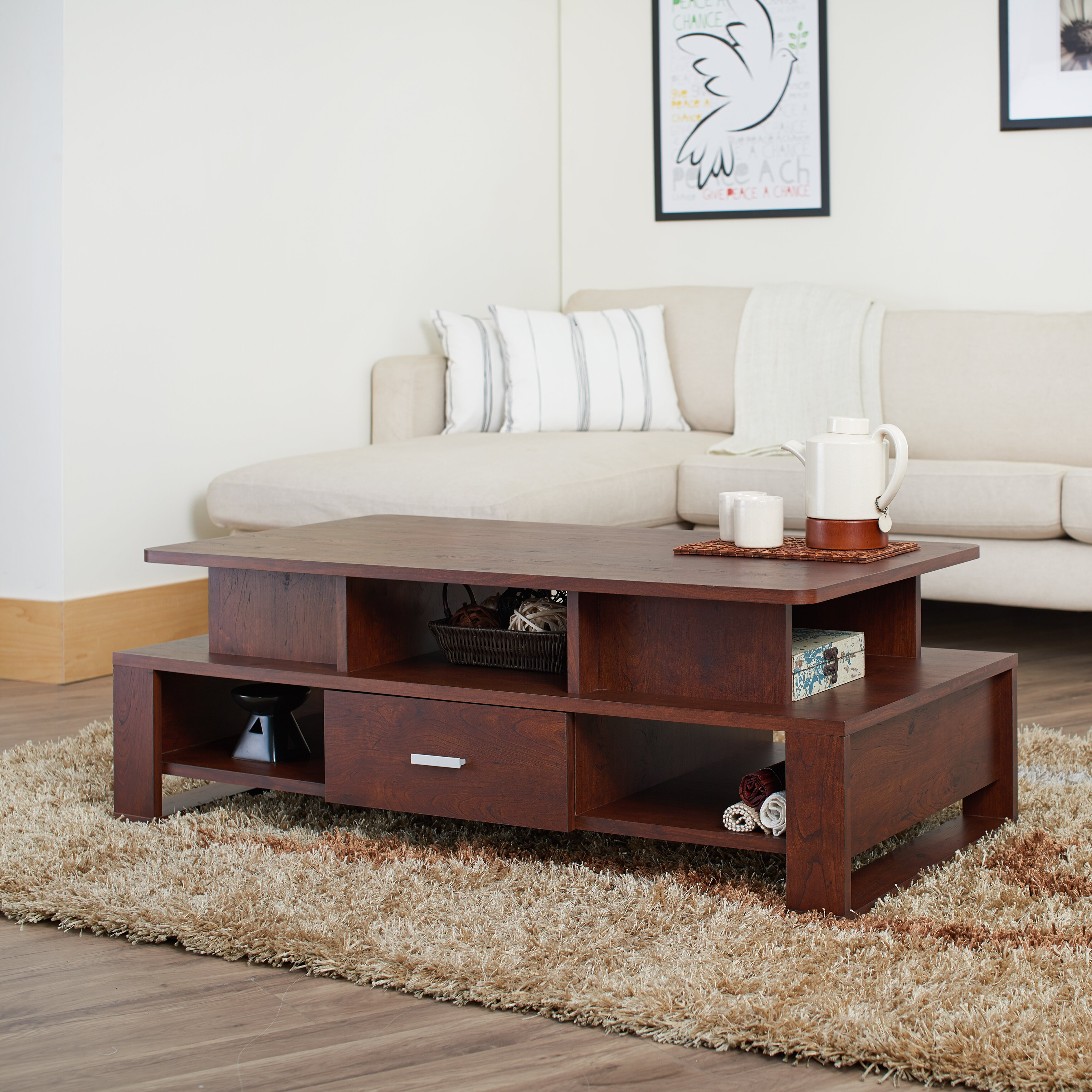 Hokku designs alexzana coffee table reviews wayfair for Hokku designs living room furniture