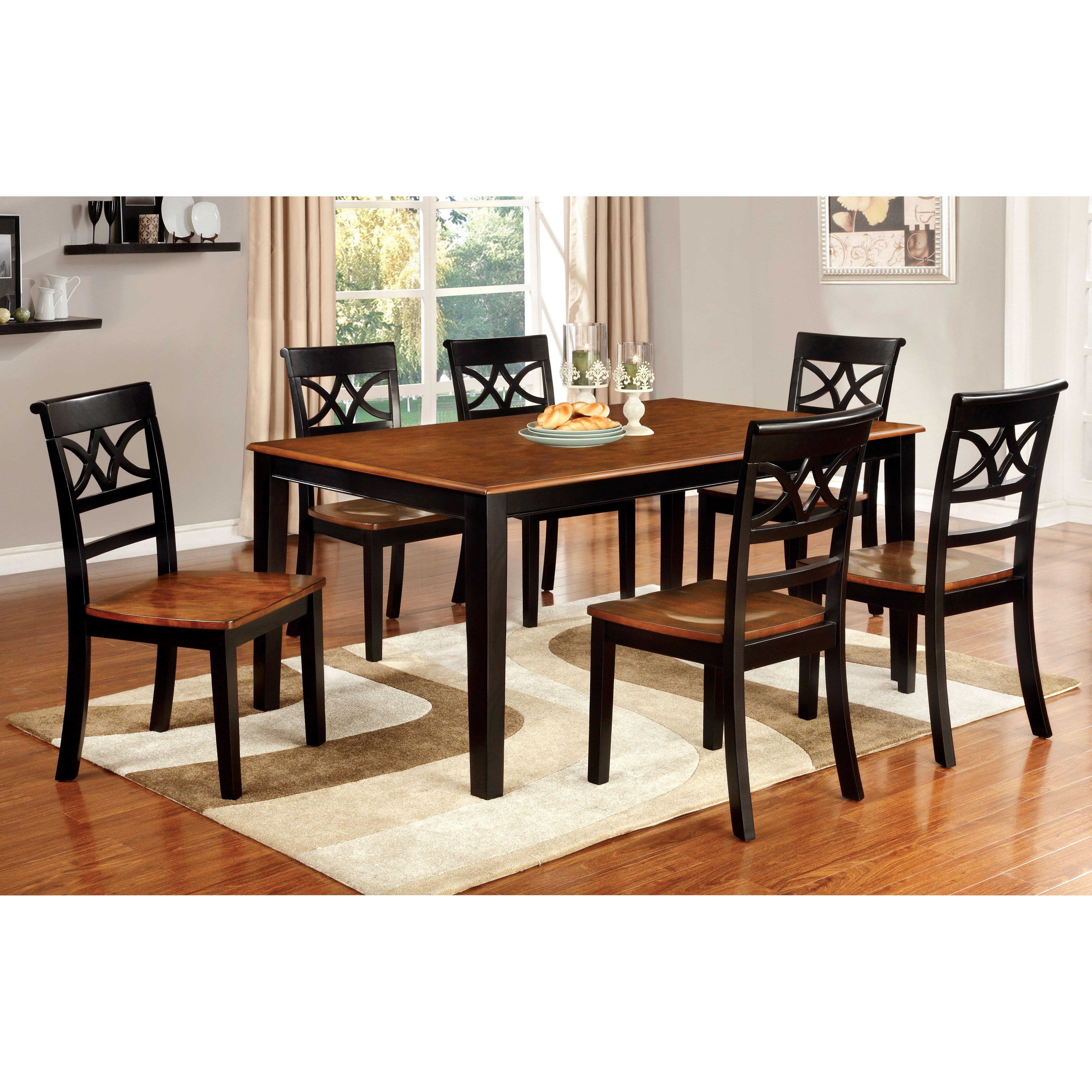 Hokku designs exenia 7 piece dining set reviews wayfair Dining set design ideas