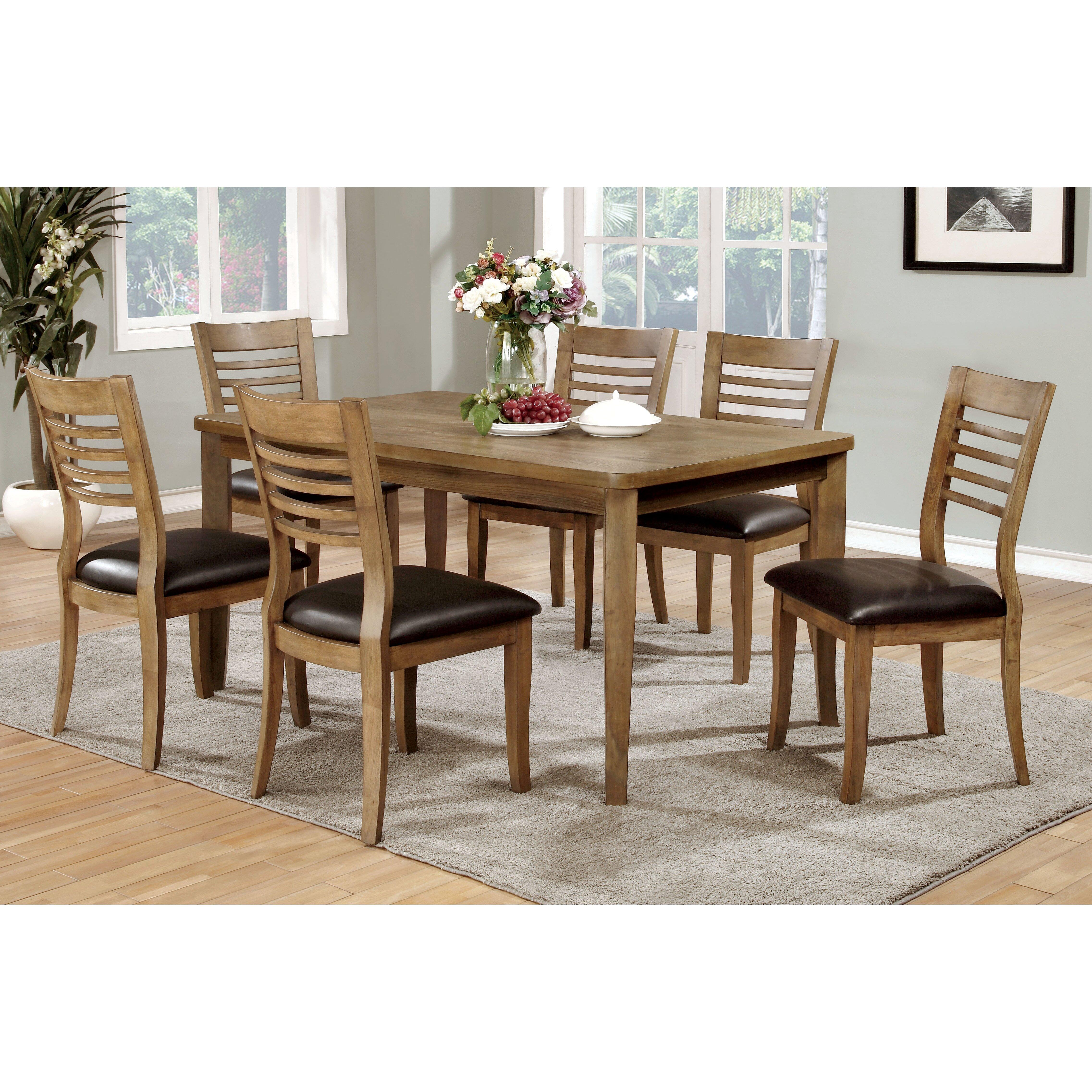 Hokku designs natura 7 piece dining table reviews wayfair for Hokku designs dining room furniture