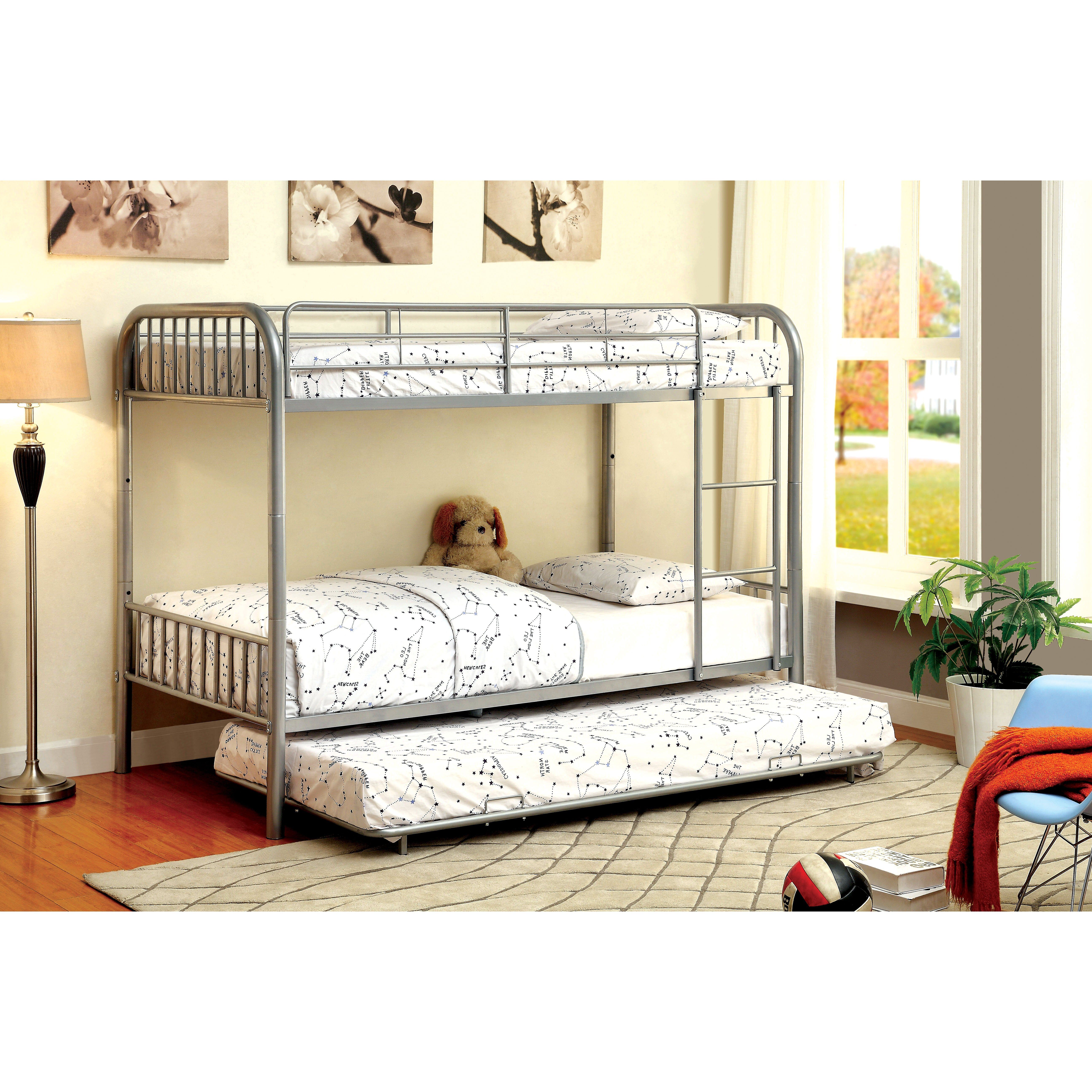 hokku designs prism twin bunk bed with trundle reviews. Black Bedroom Furniture Sets. Home Design Ideas