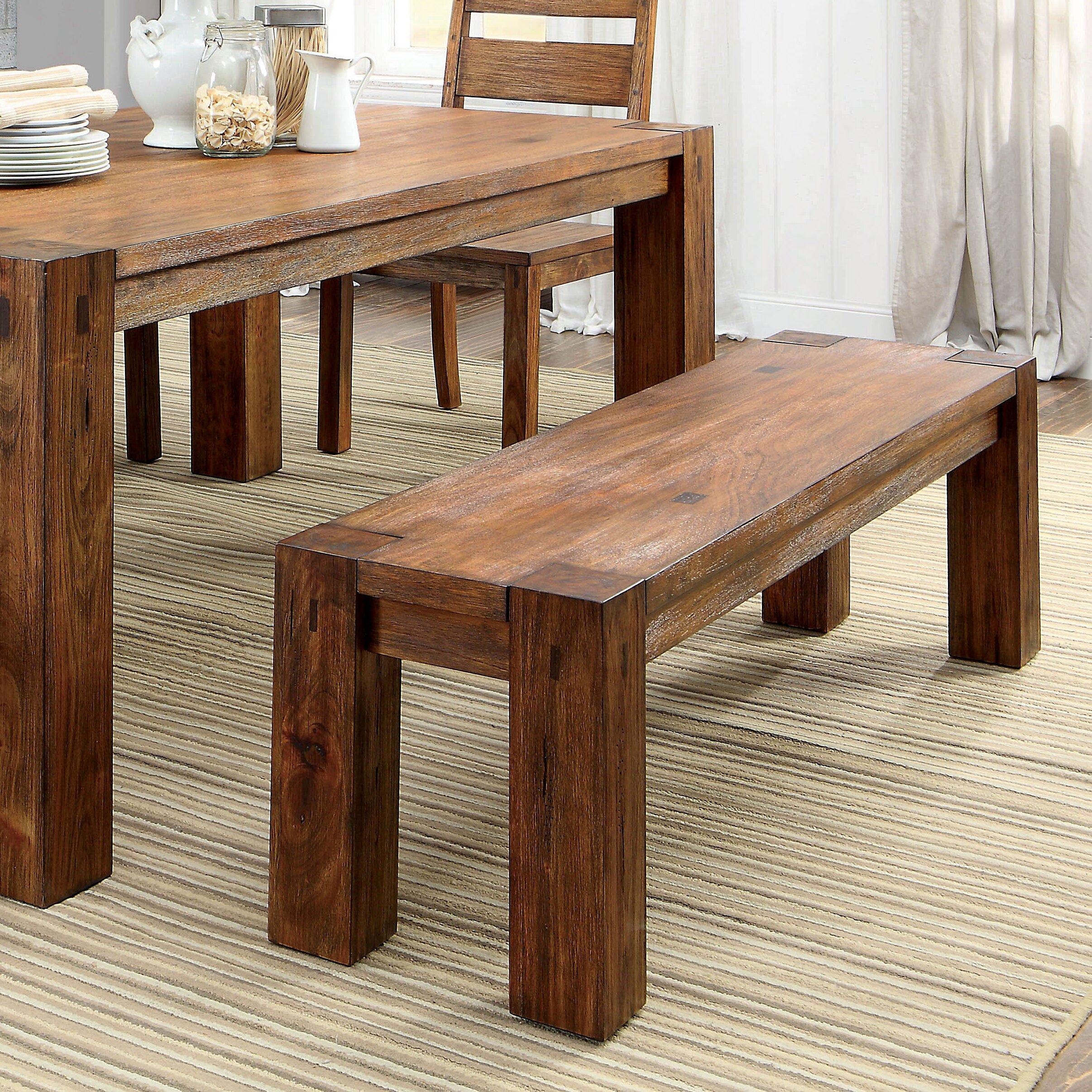 Hokku Designs Bethanne Wood Kitchen Bench & Reviews