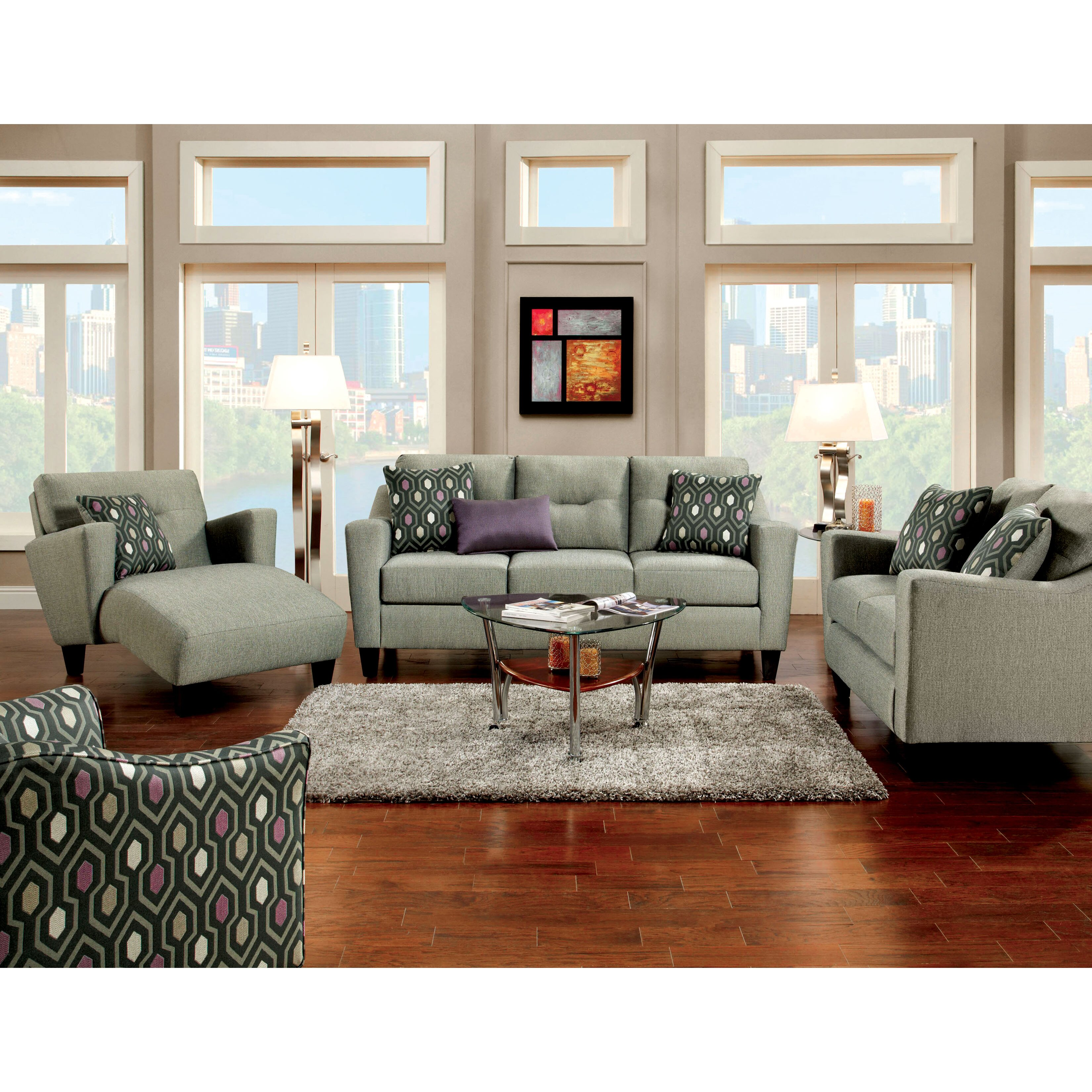Hokku Designs Violette Modern Chaise Lounge & Reviews