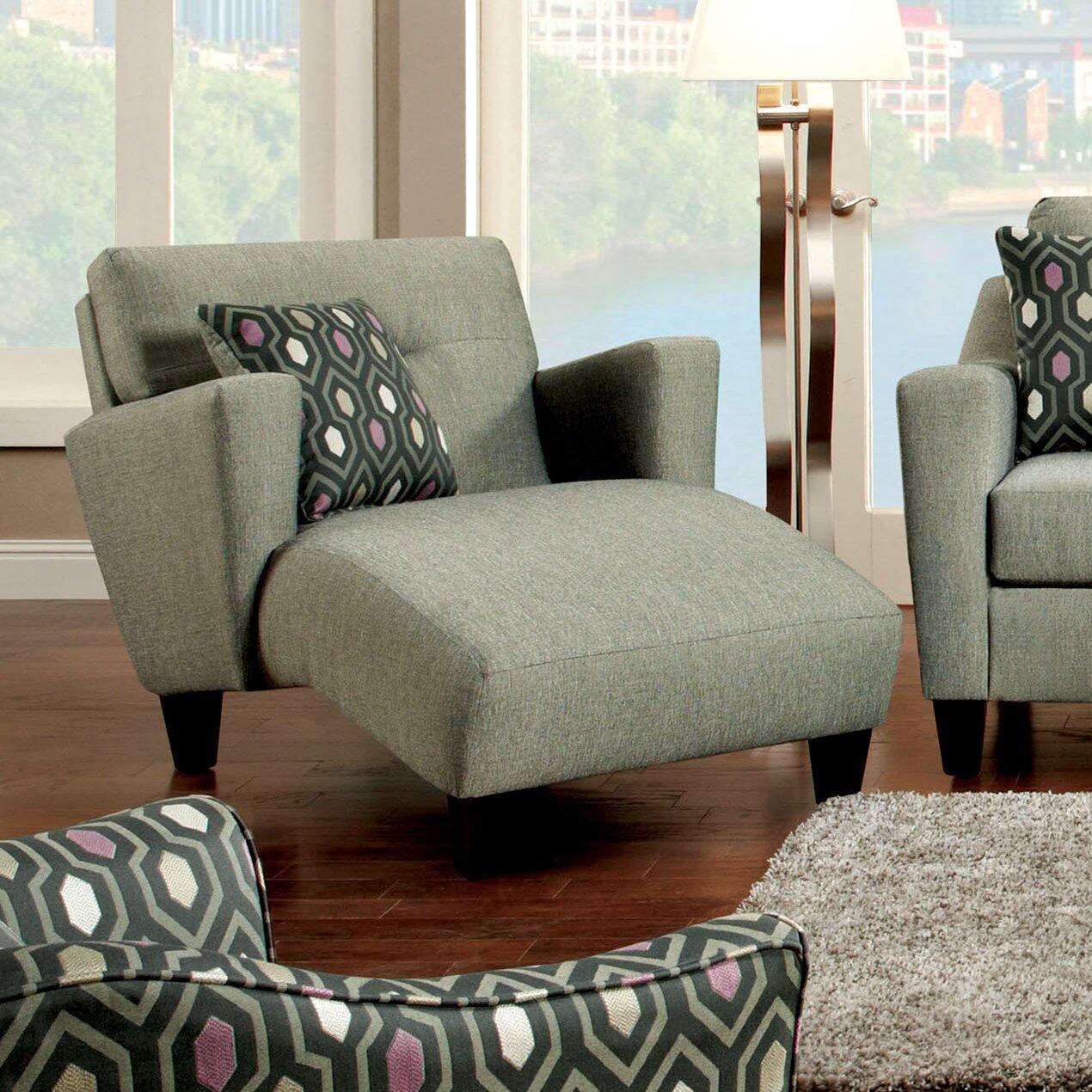 hokku designs violette modern chaise lounge reviews wayfair. Black Bedroom Furniture Sets. Home Design Ideas