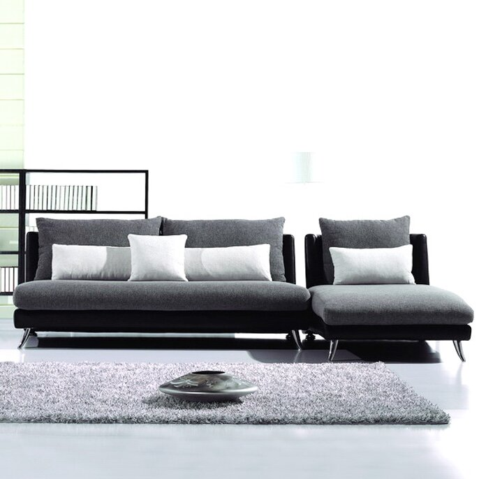 Hokku designs dione reversible chaise sectional reviews for Hokku designs living room furniture