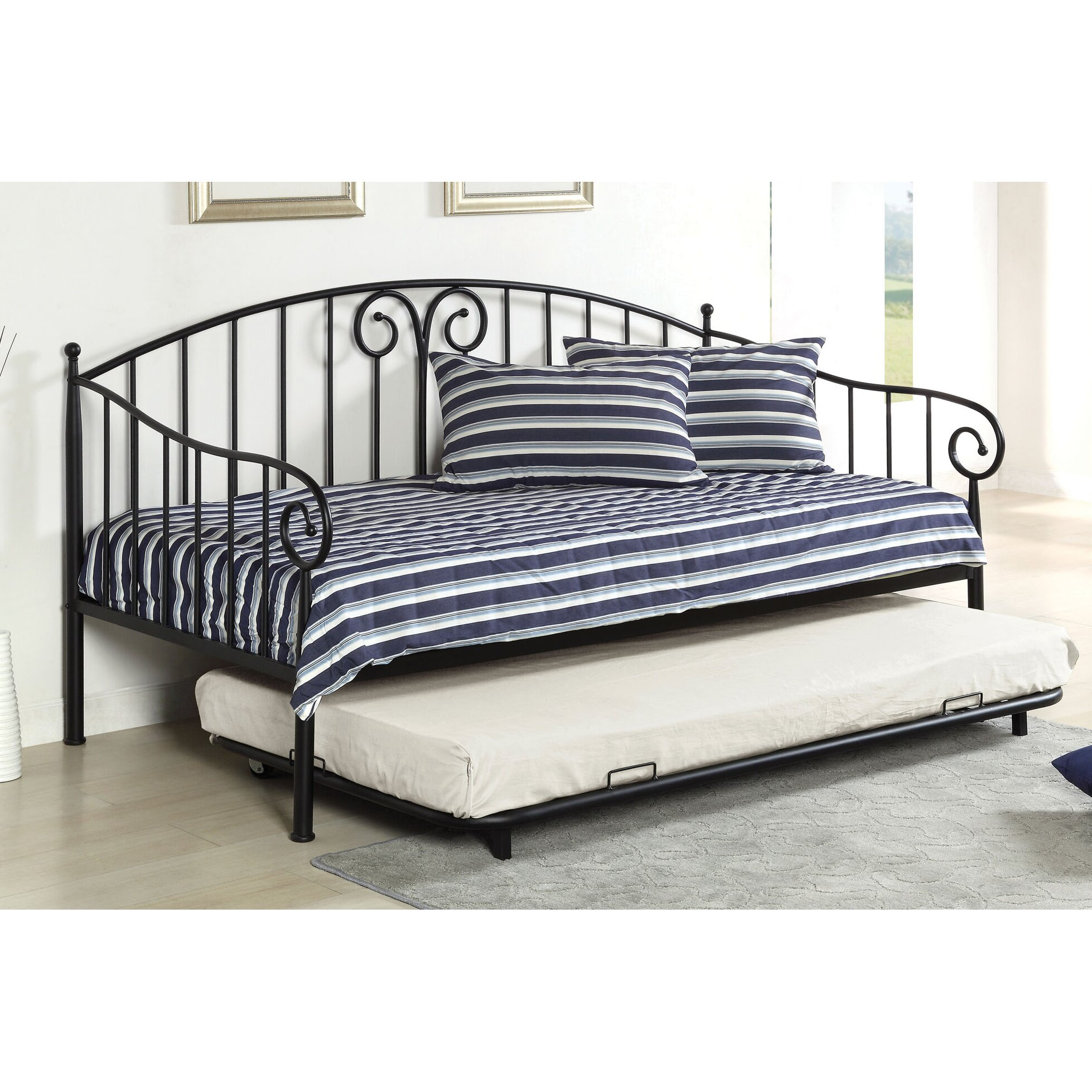hokku designs pebble daybed with trundle reviews wayfair. Black Bedroom Furniture Sets. Home Design Ideas