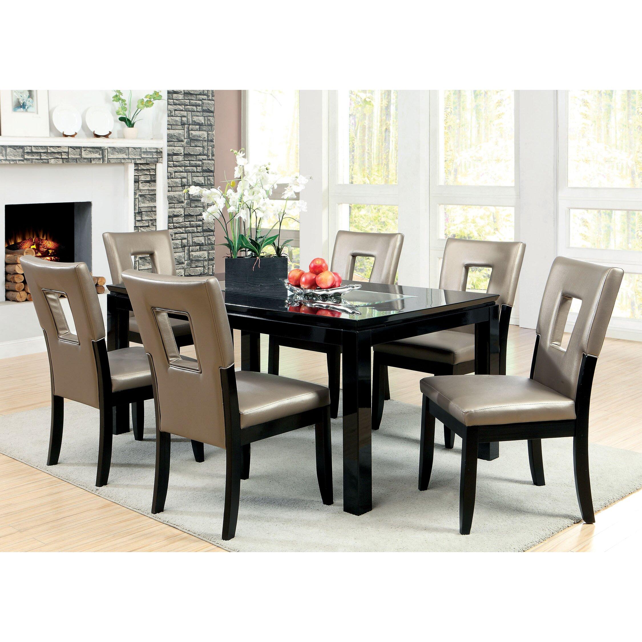 Hokku designs vanderbilte 7 piece dining set reviews for Hokku designs dining room furniture