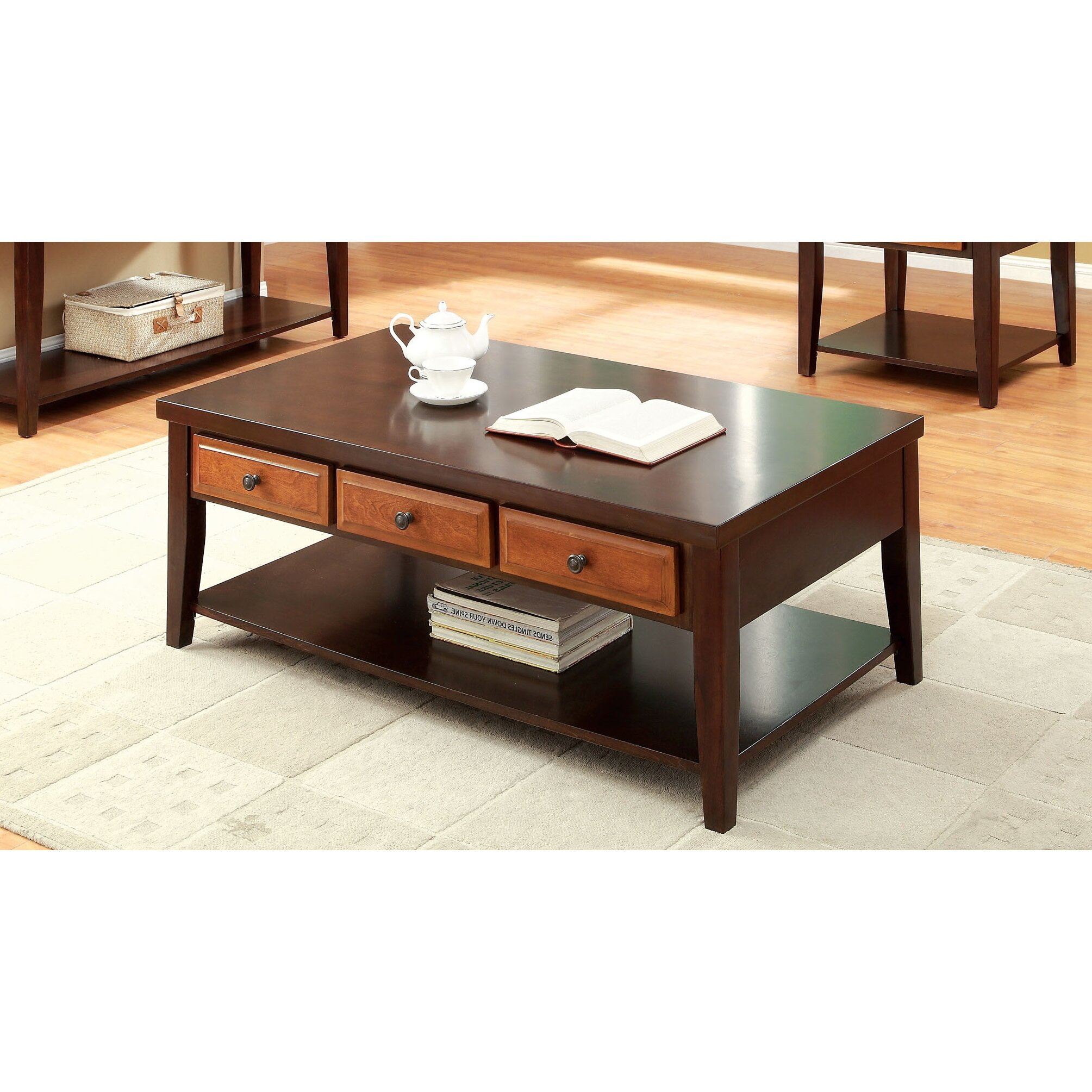 hokku designs squanto coffee table wayfair. Black Bedroom Furniture Sets. Home Design Ideas