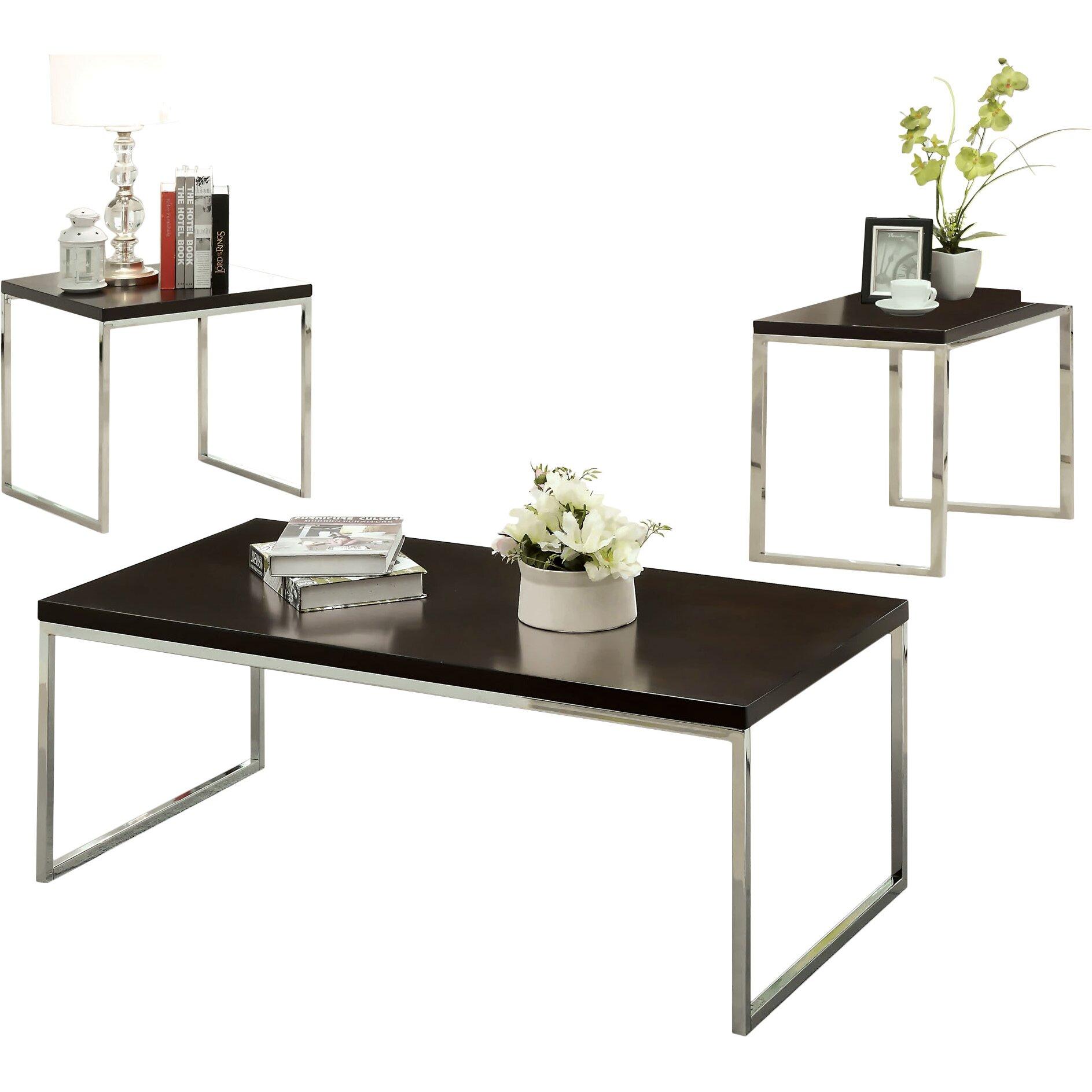 Hokku Designs Howie Retro 3 Piece Coffee Table Set Reviews Wayfair