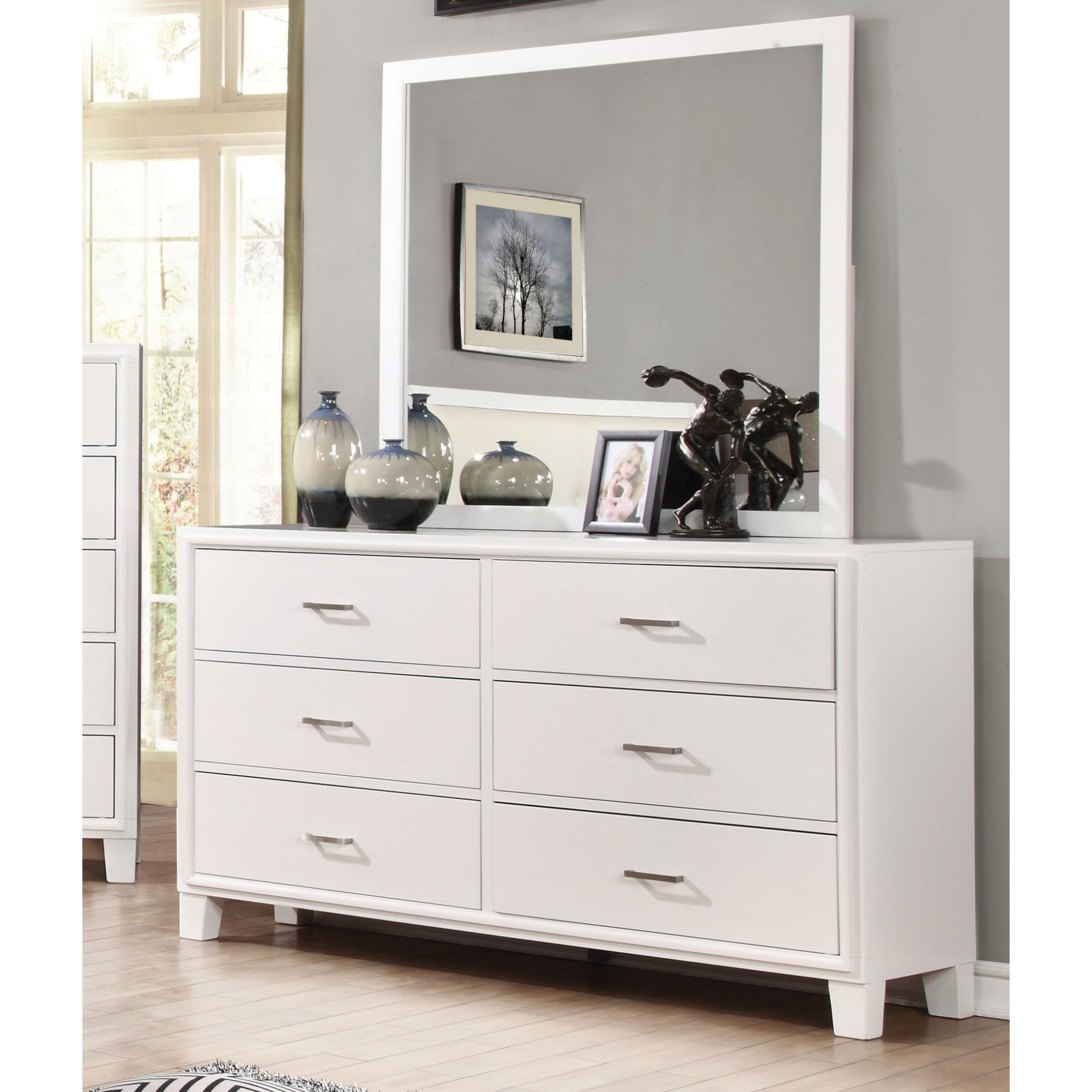 Hokku designs nina 6 drawer dresser with mirror reviews for Where can i find mirrors