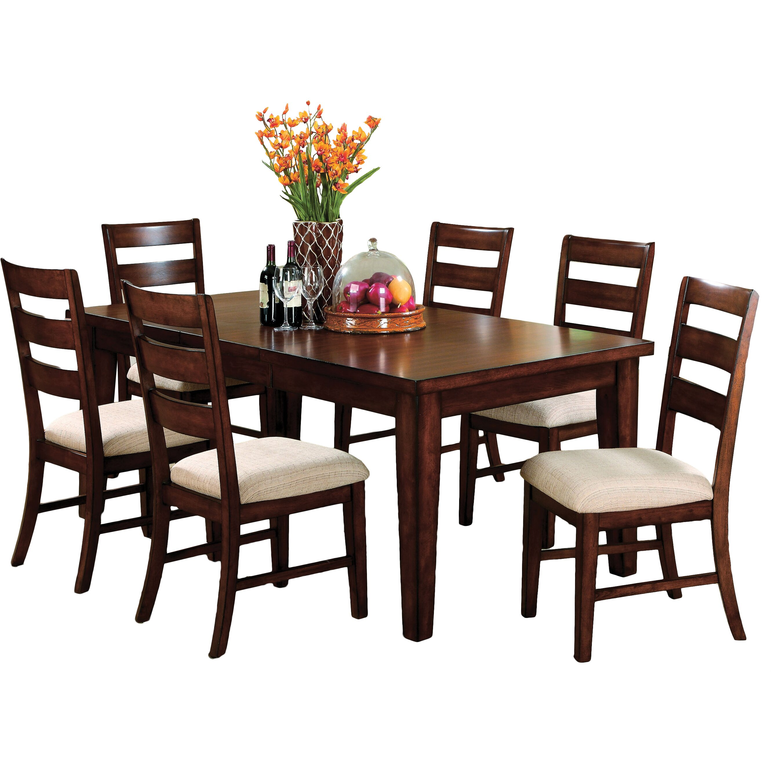 Hokku designs pristine 7 piece dining set reviews wayfair for 7 piece dining set
