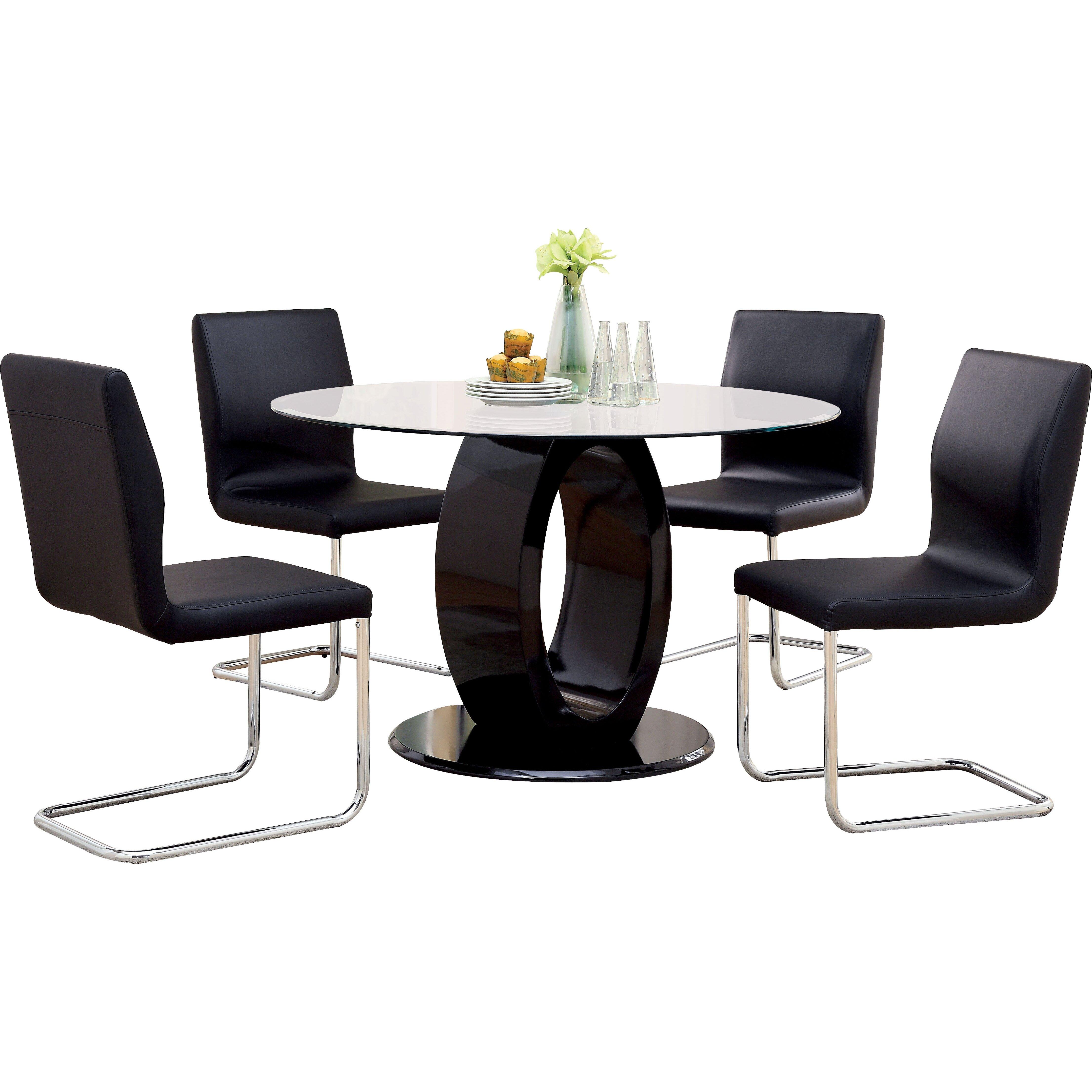 Hokku designs benedict 5 piece dining set reviews wayfair for Hokku designs dining room furniture