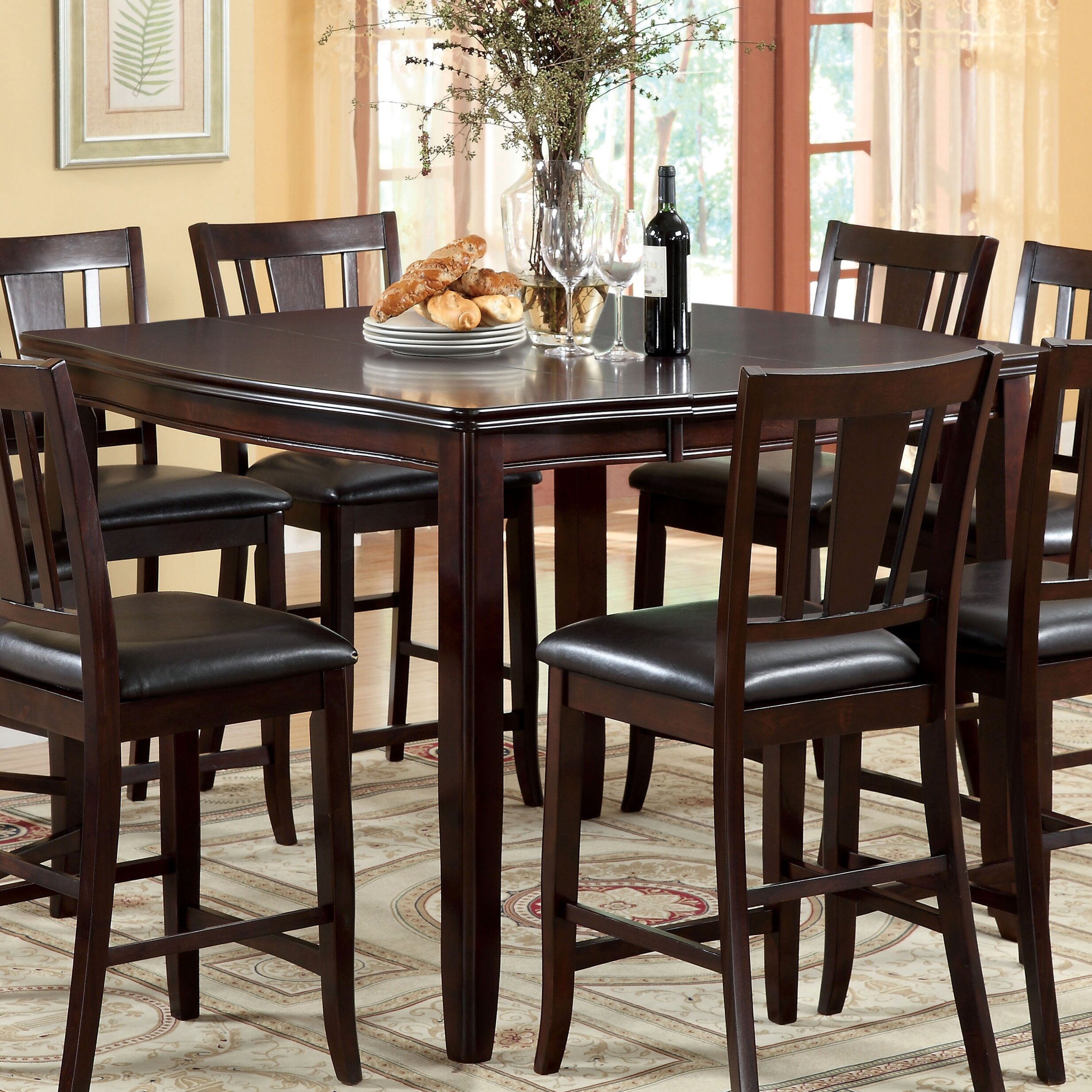 Dinning Set: Hokku Designs Nappa 7 Piece Counter Height Dining Set