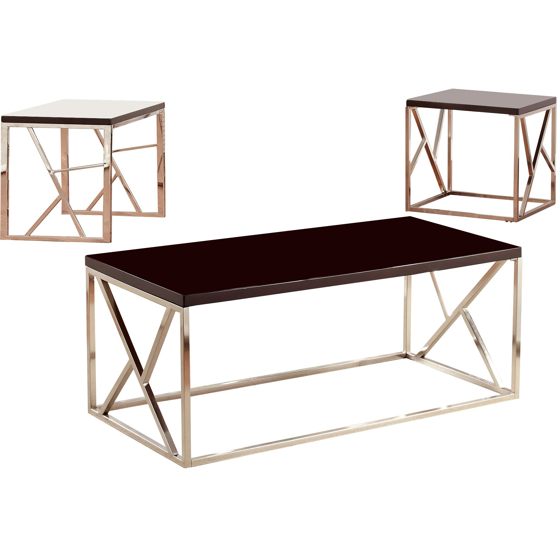 Hokku Designs Joanie Retro 3 Piece Coffee Table Set Wayfair