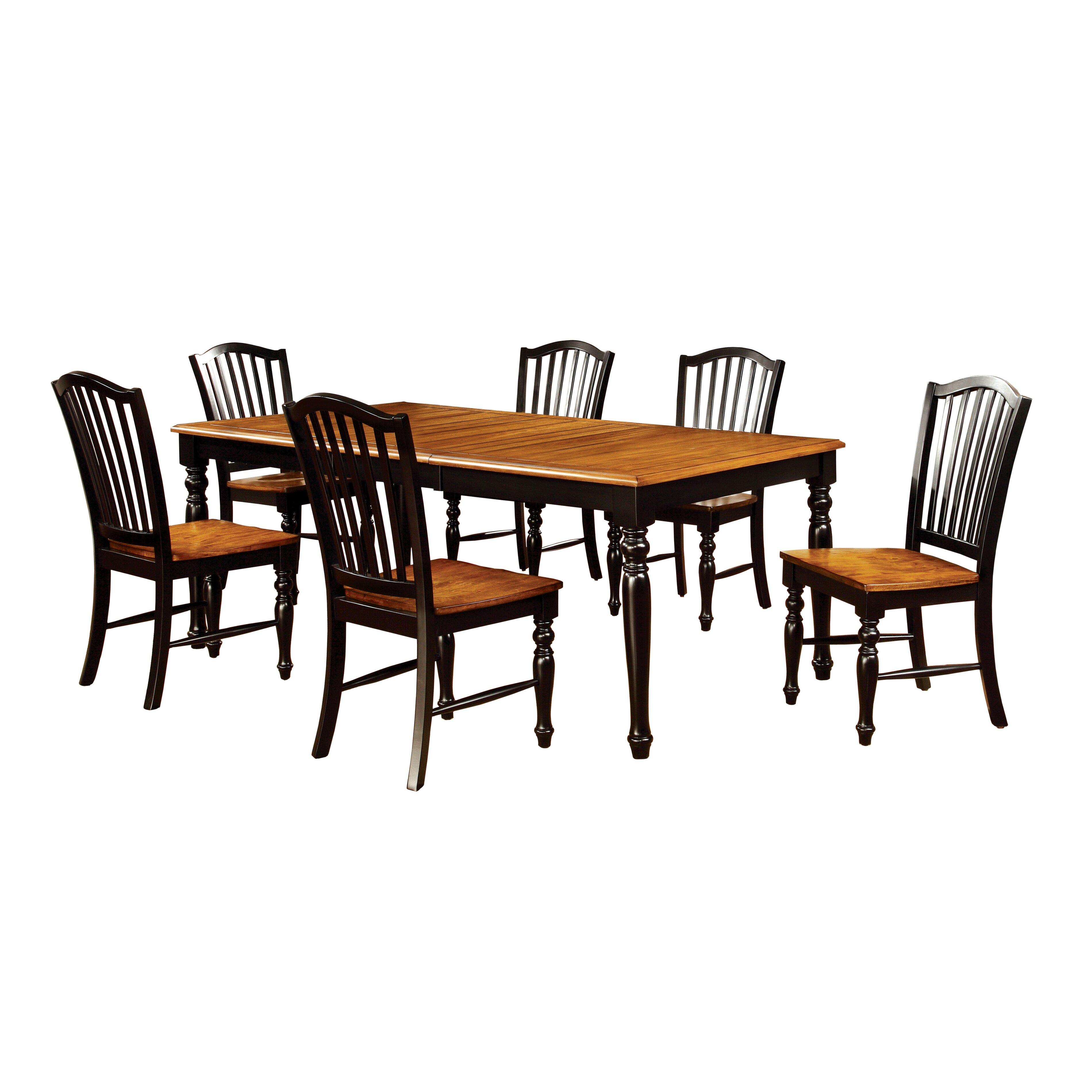 Hokku designs tanner 7 piece dining set reviews wayfair for Hokku designs dining room furniture