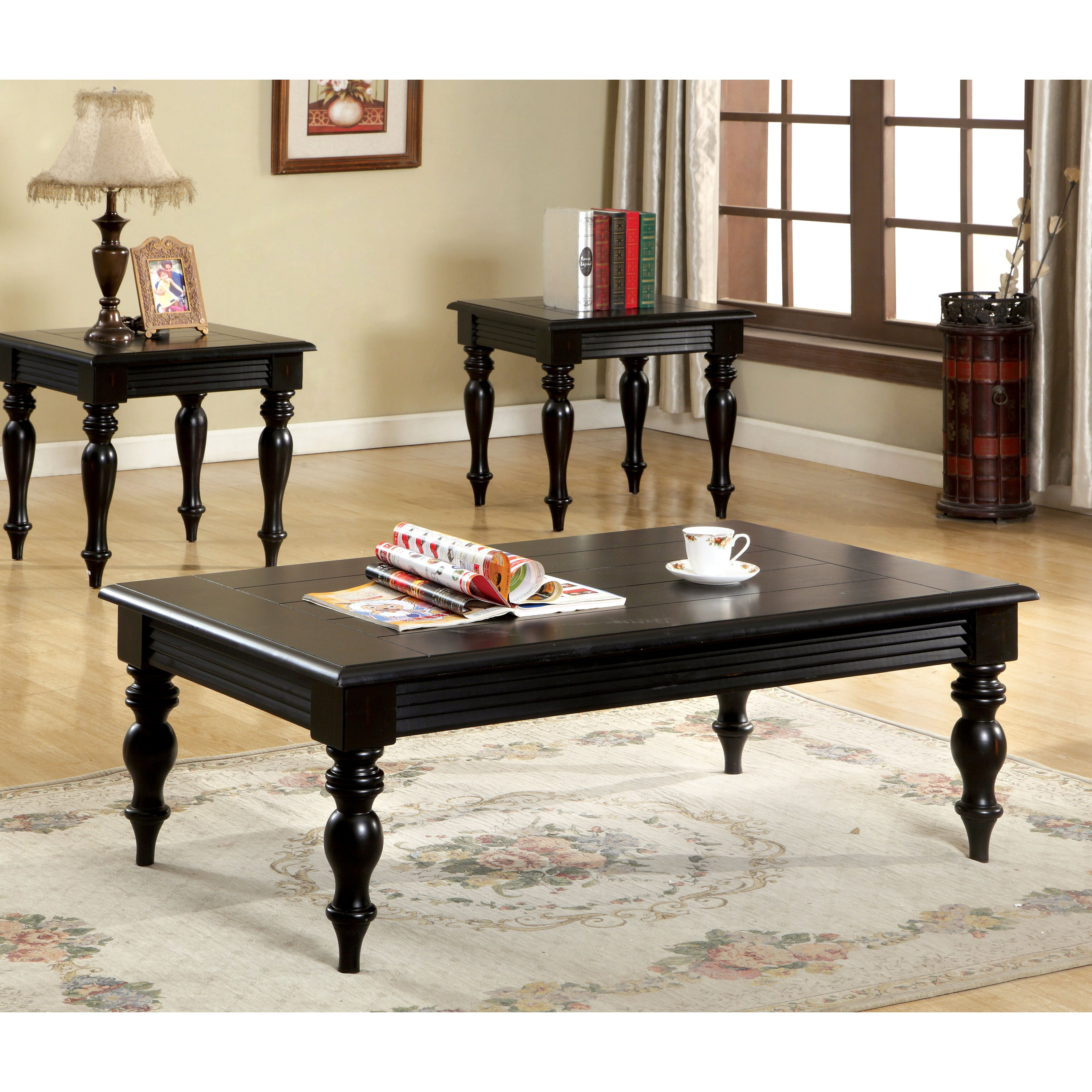 hokku designs degrei 3 piece coffee table set reviews wayfair. Black Bedroom Furniture Sets. Home Design Ideas