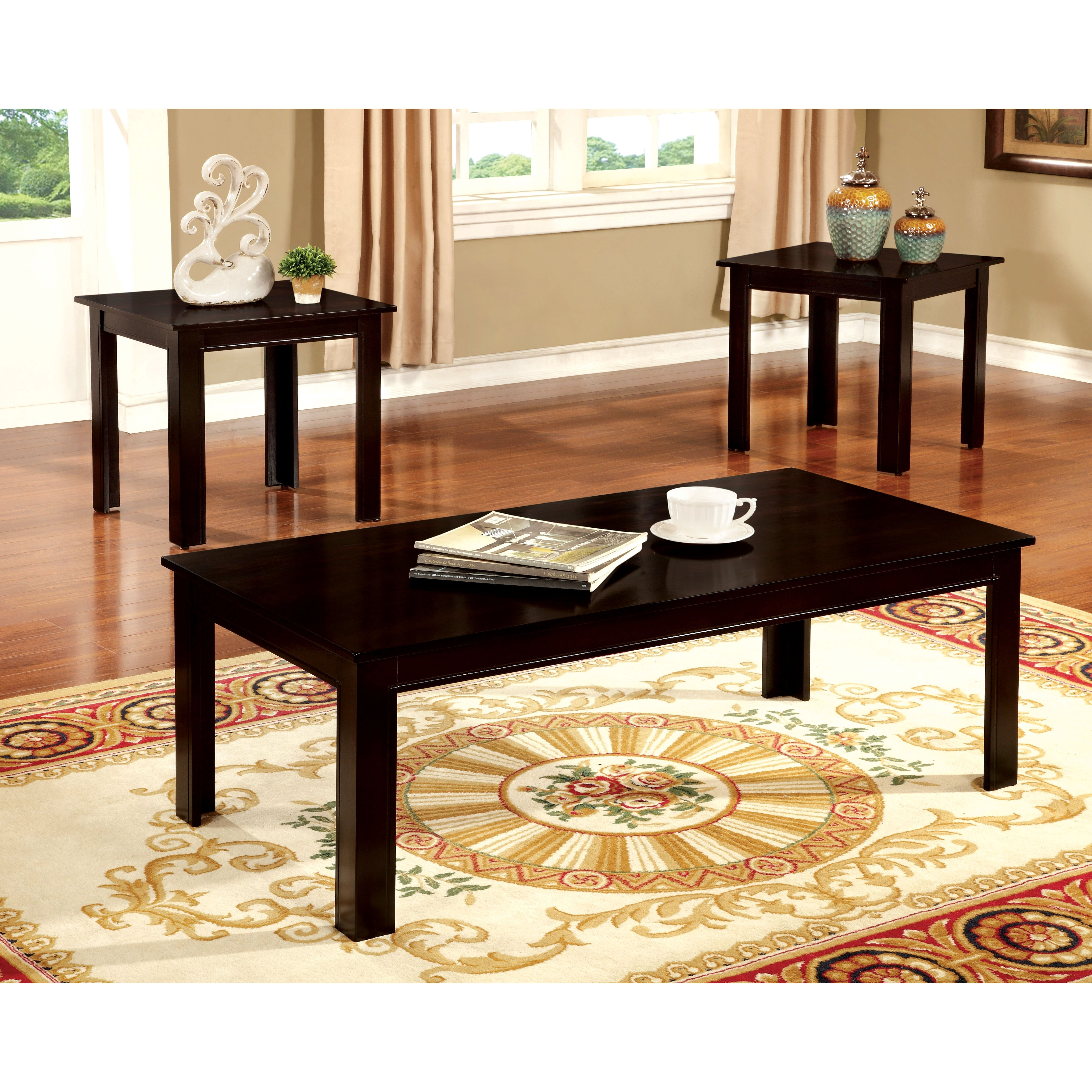 Veropeso 3 Piece Coffee Table Set: Hokku Designs Kaldi 3 Piece Coffee Table Set & Reviews
