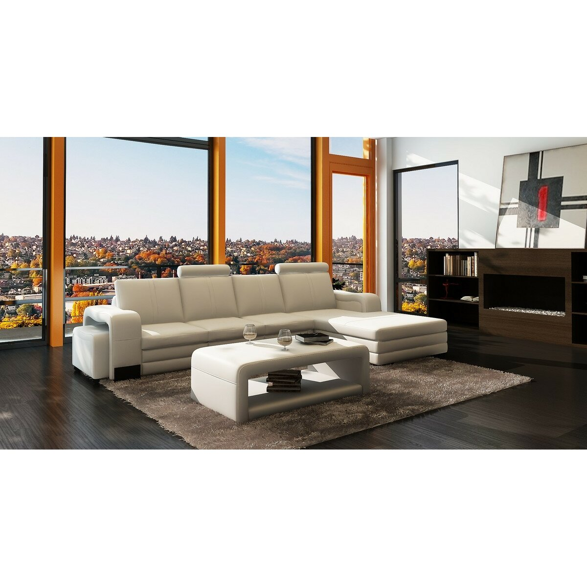 Hokku designs marino 2 piece living room set wayfair for Hokku designs living room furniture