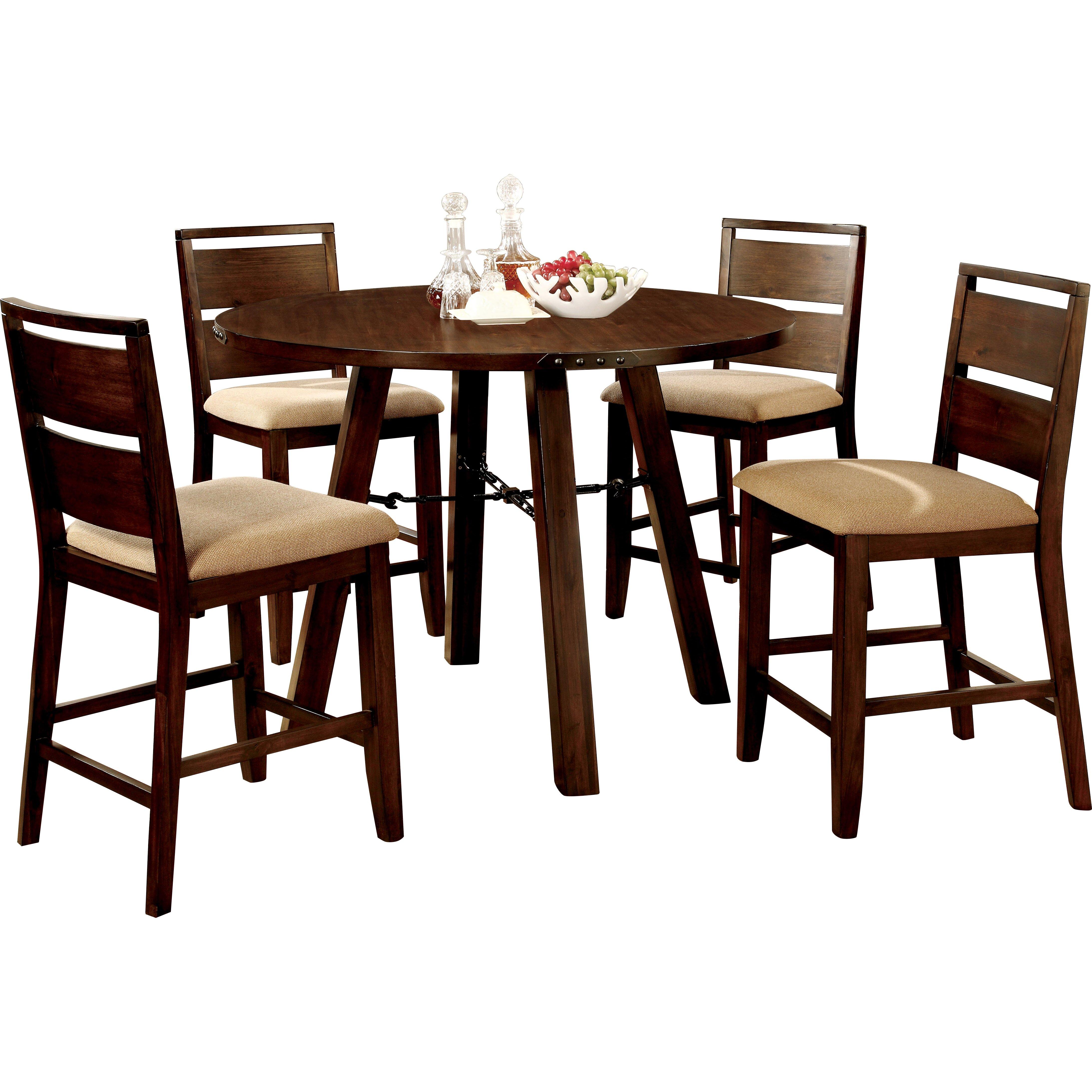Hokku designs shrader 5 piece dining set reviews wayfair for Hokku designs dining room furniture
