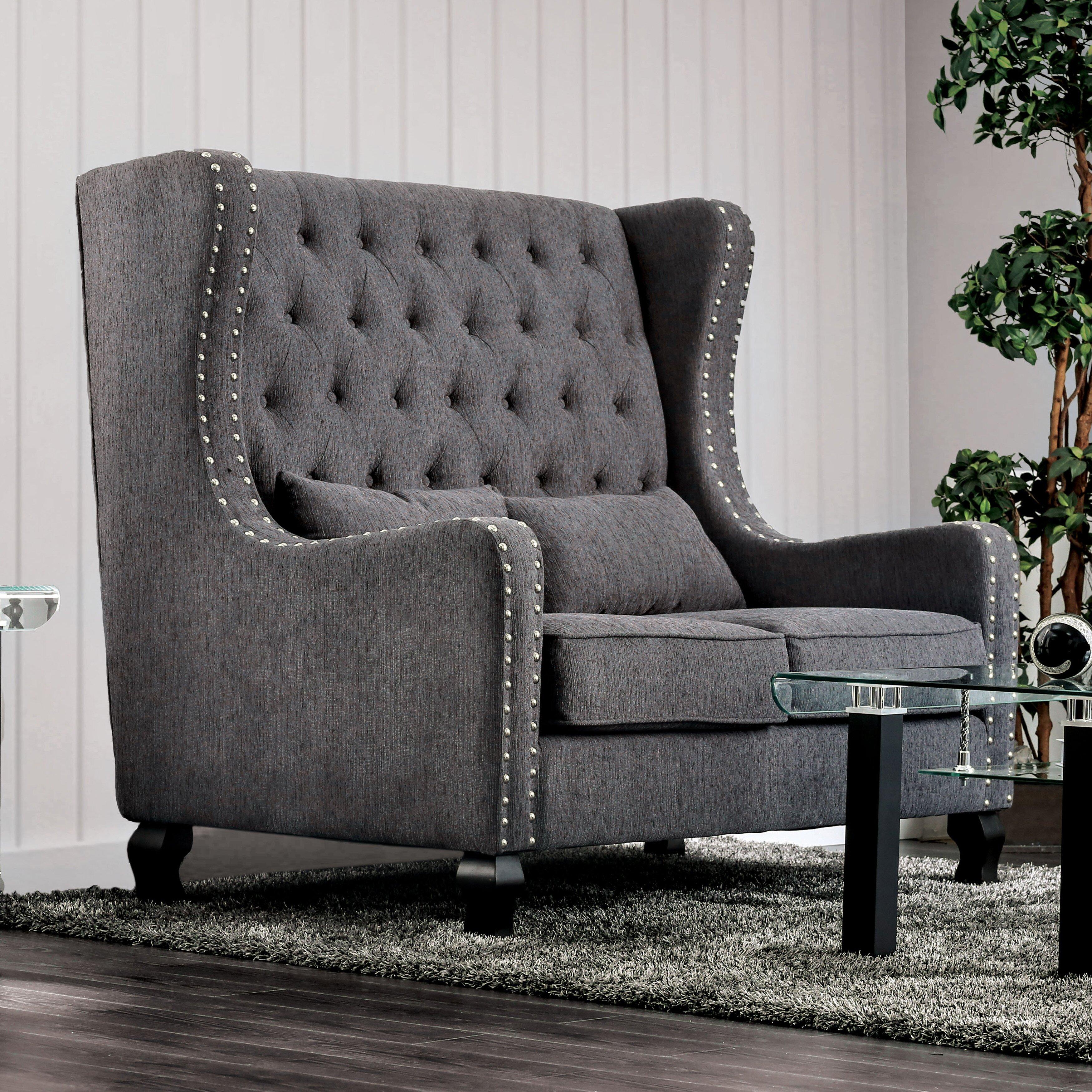 Hokku designs risella loveseat reviews wayfair for Hokku designs living room furniture