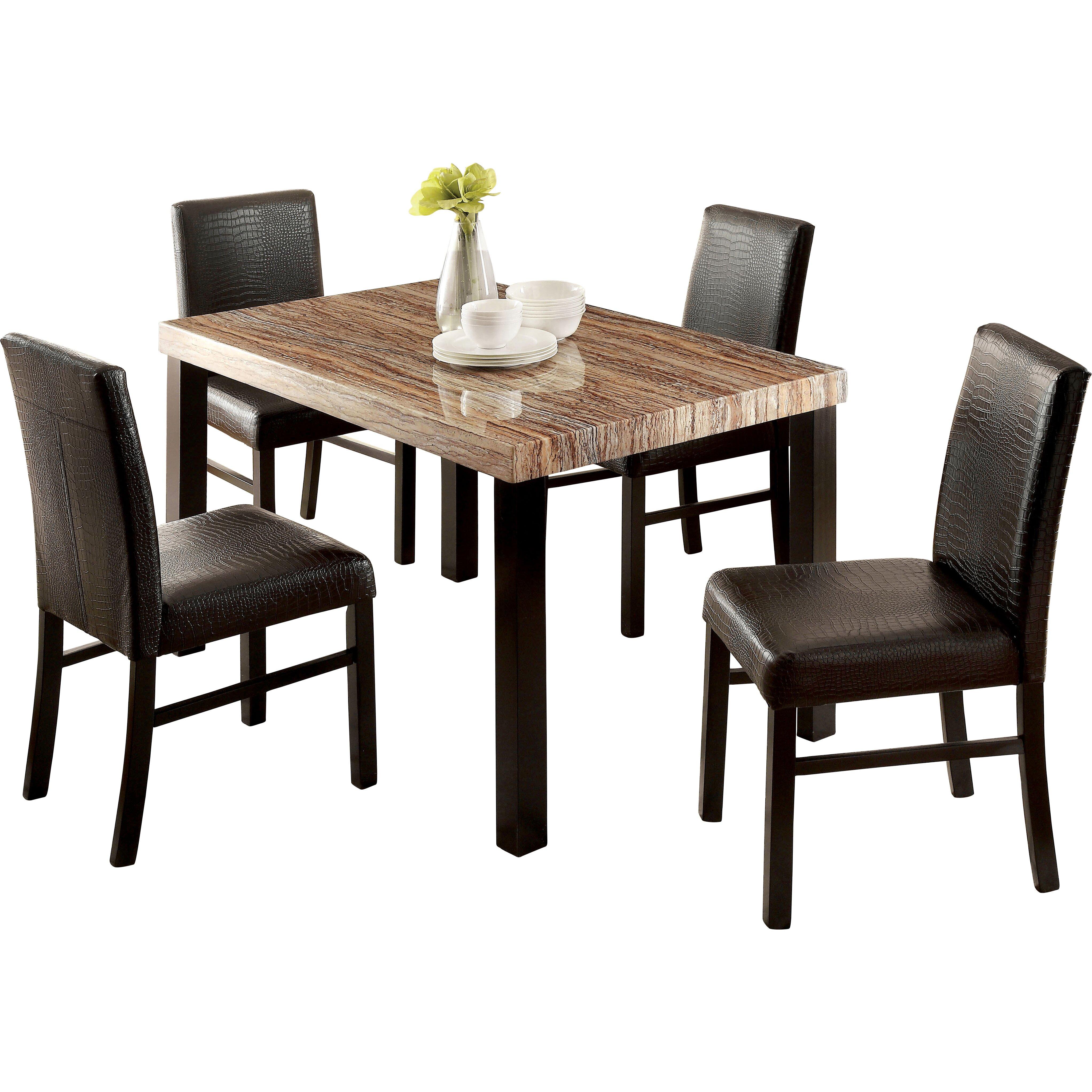 Hokku designs baylor 5 piece dining set reviews wayfair for Hokku designs dining room furniture