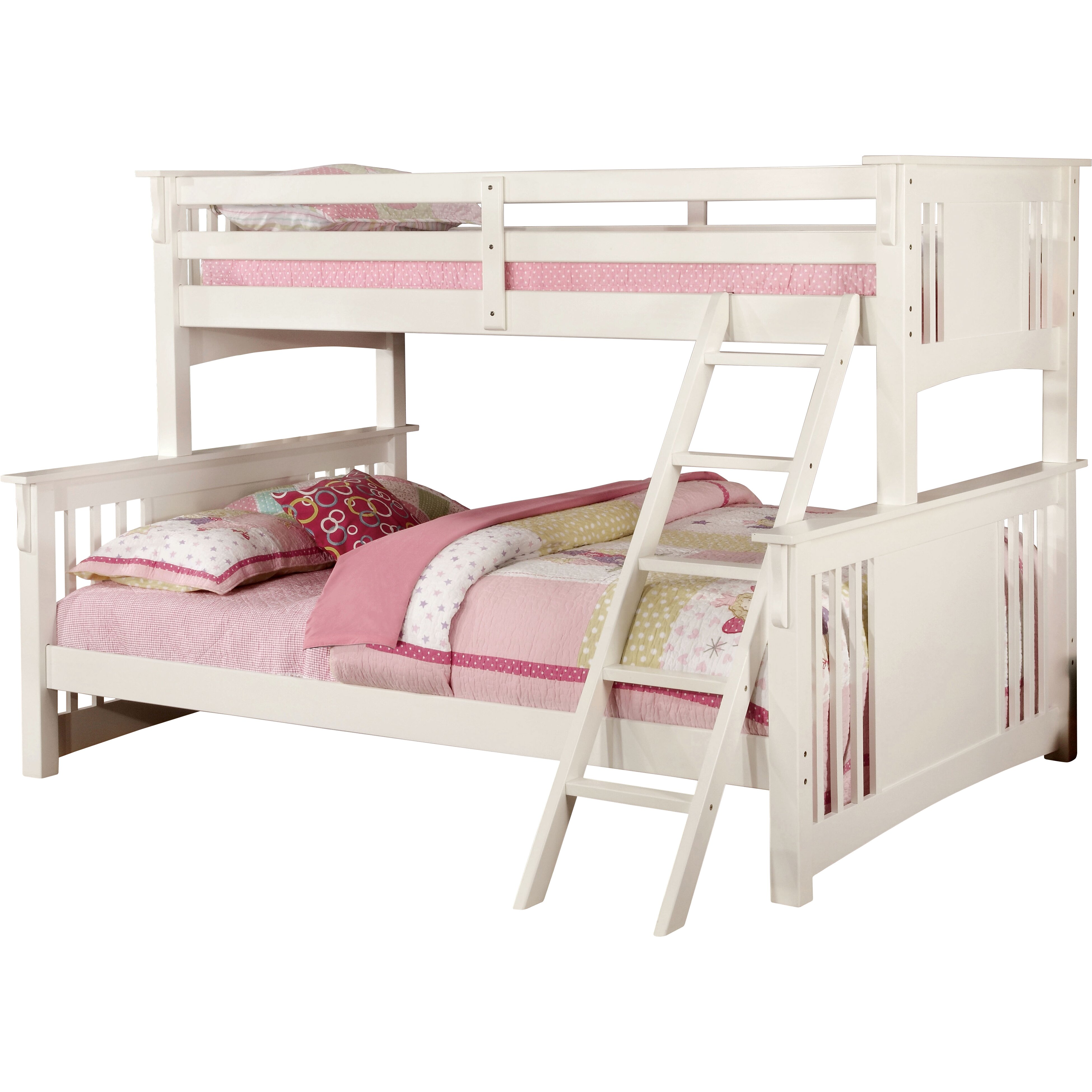 Hokku designs spring twin over queen futon bunk bed for Twin bed over futon