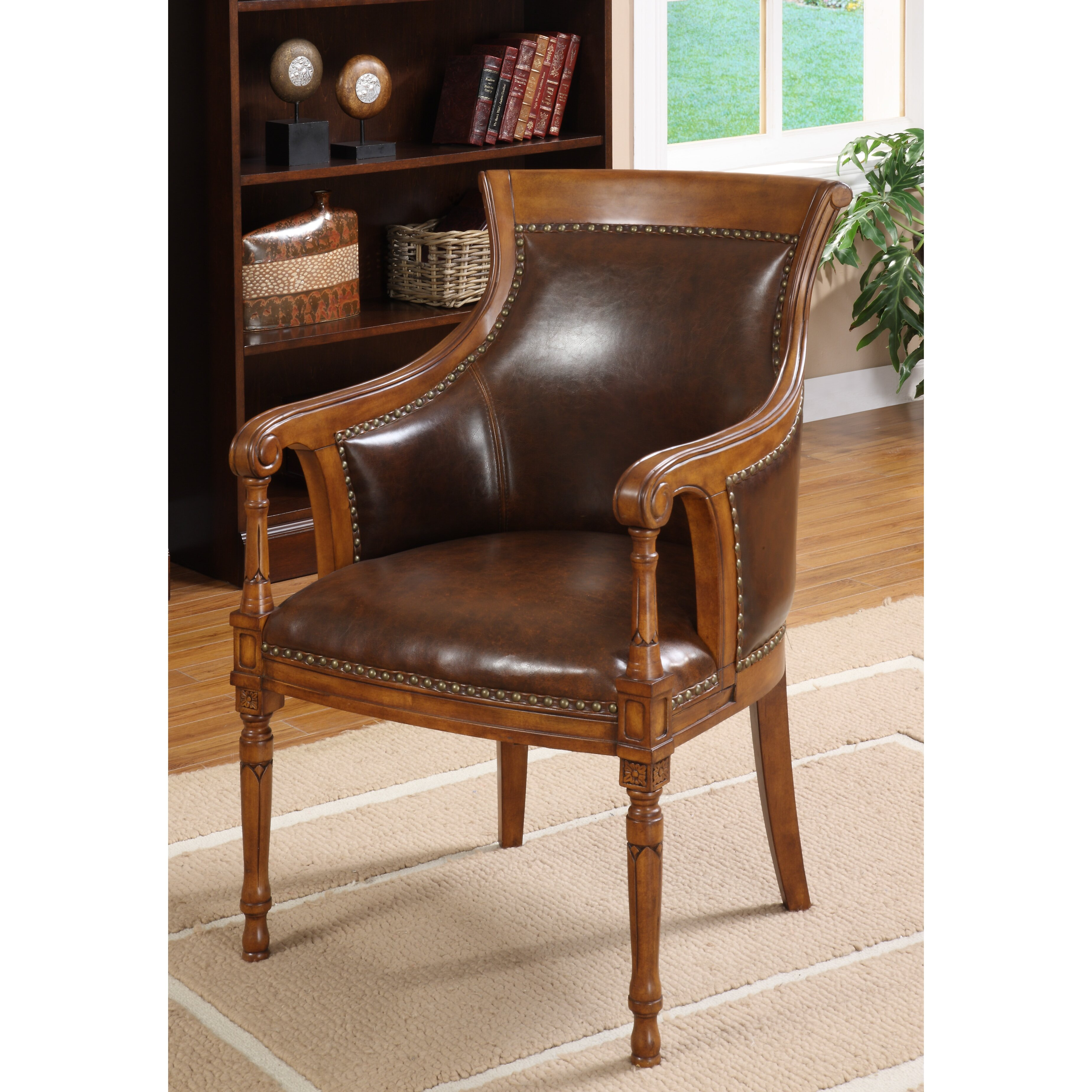 Hokku designs kirkless leatherette executive arm chair