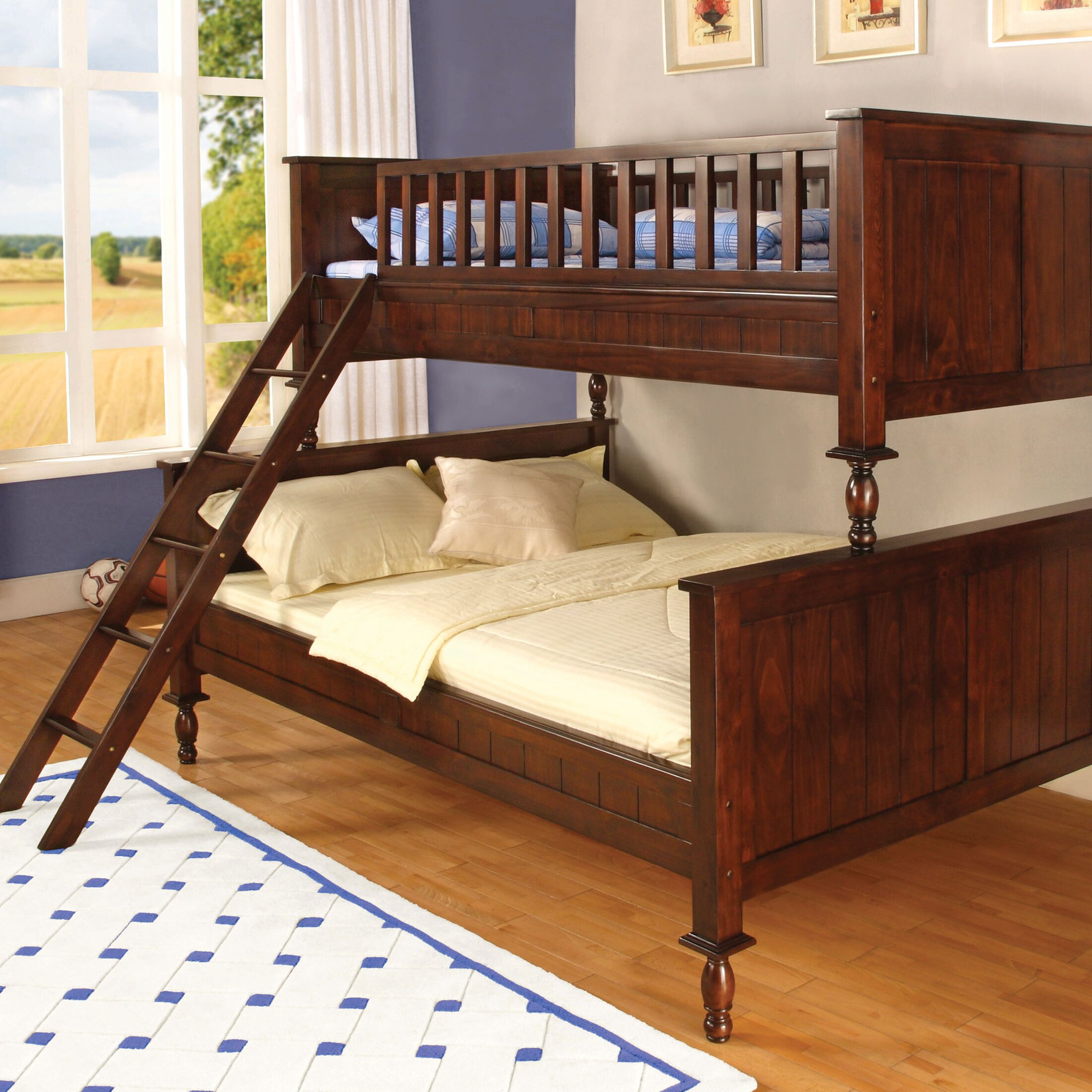 hokku designs milton twin over full futon bunk bed reviews wayfair. Black Bedroom Furniture Sets. Home Design Ideas