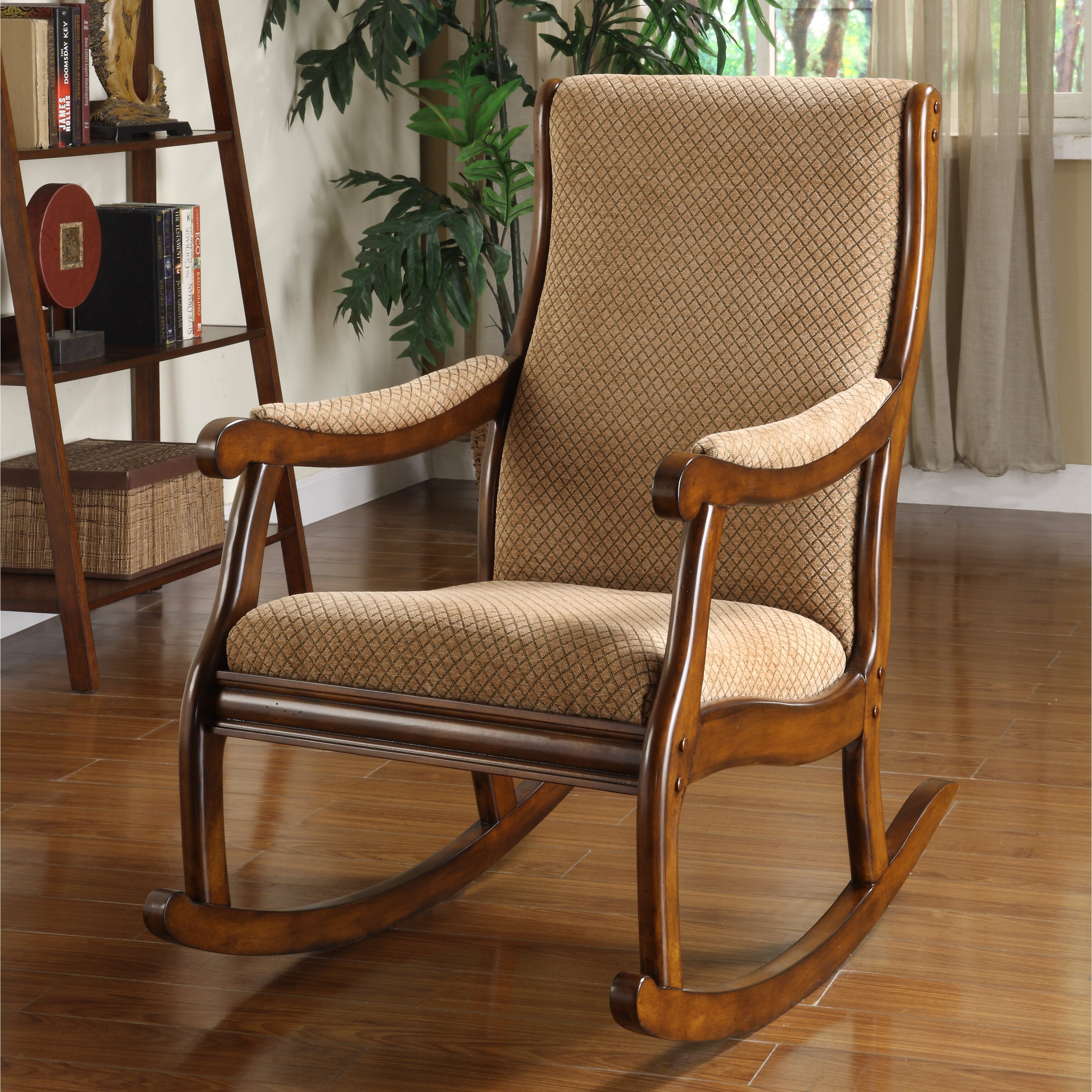 Furniture Living Room Furniture ... Wood Rocking Chairs Hokku Designs ...