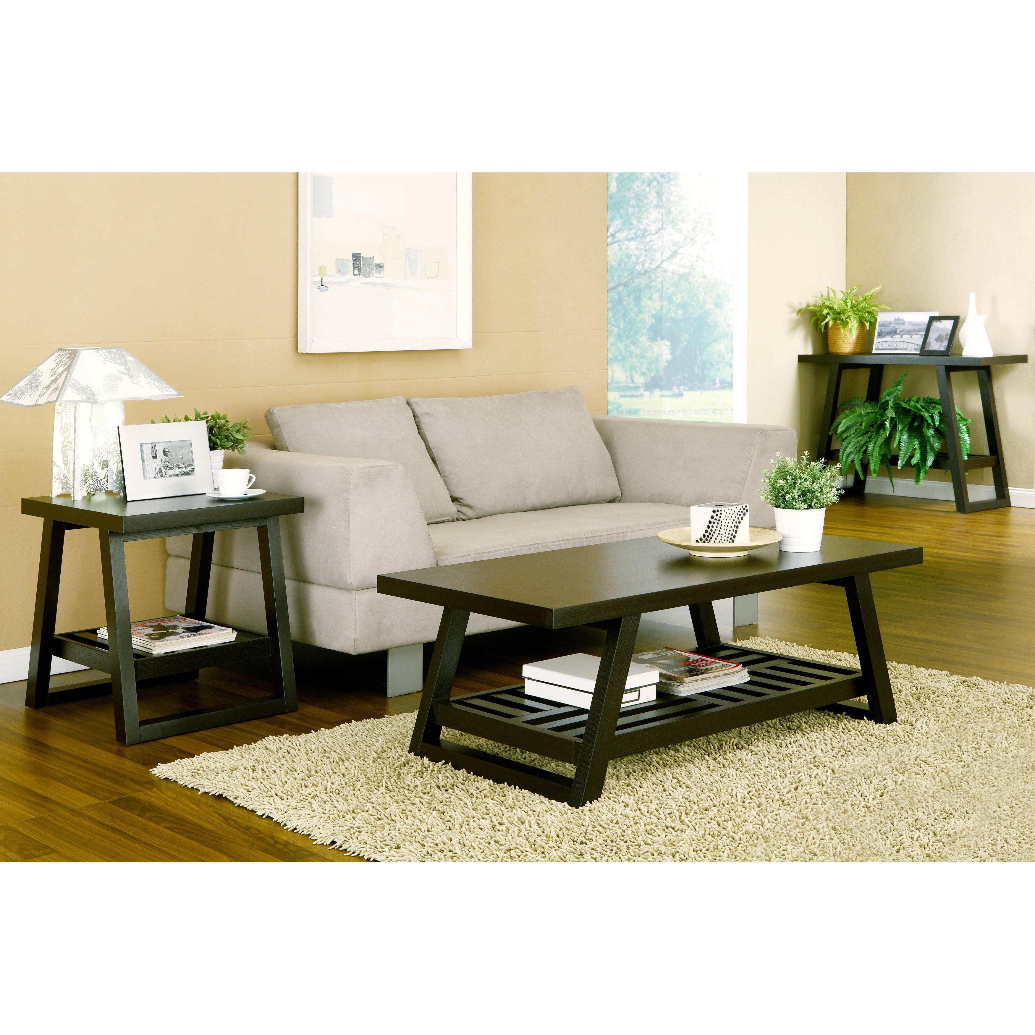 hokku designs parker 2 piece coffee table set reviews wayfair. Black Bedroom Furniture Sets. Home Design Ideas