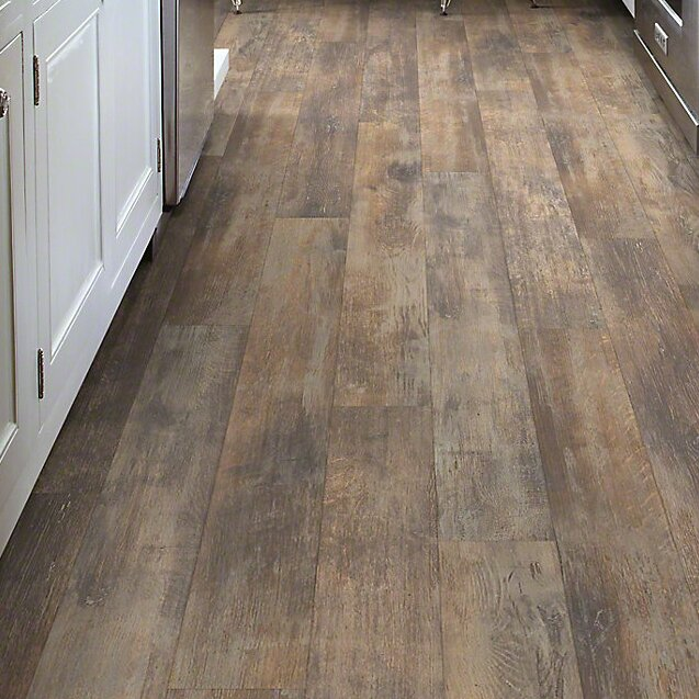 Shaw floors momentous 5 x 48 x 8mm laminate in cliche for Plastic laminate flooring