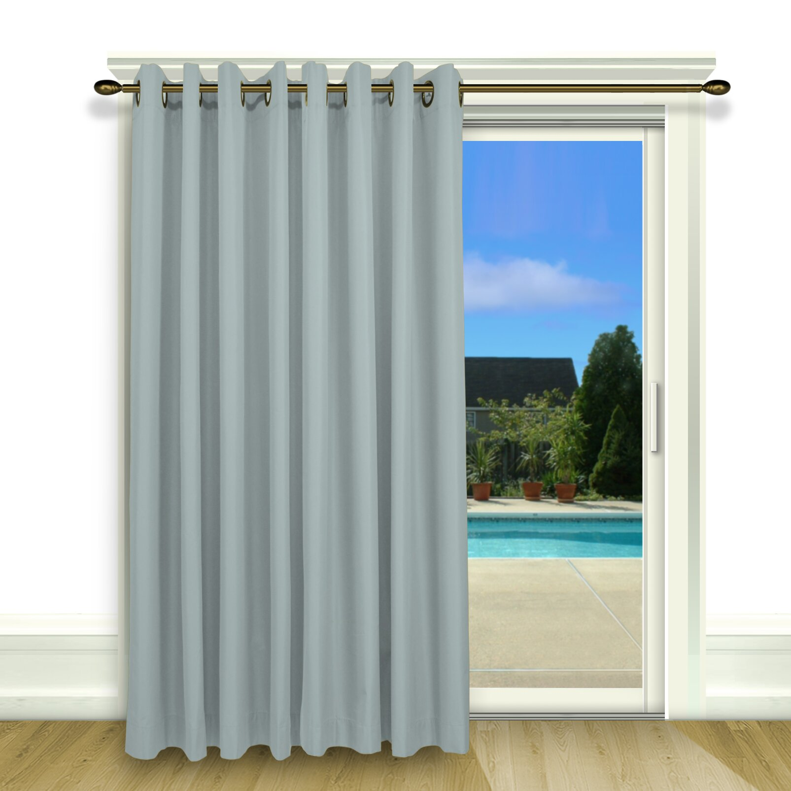 Ricardo Trading Elegance Grommet Single Curtain Patio Panel Reviews Wayfair Supply