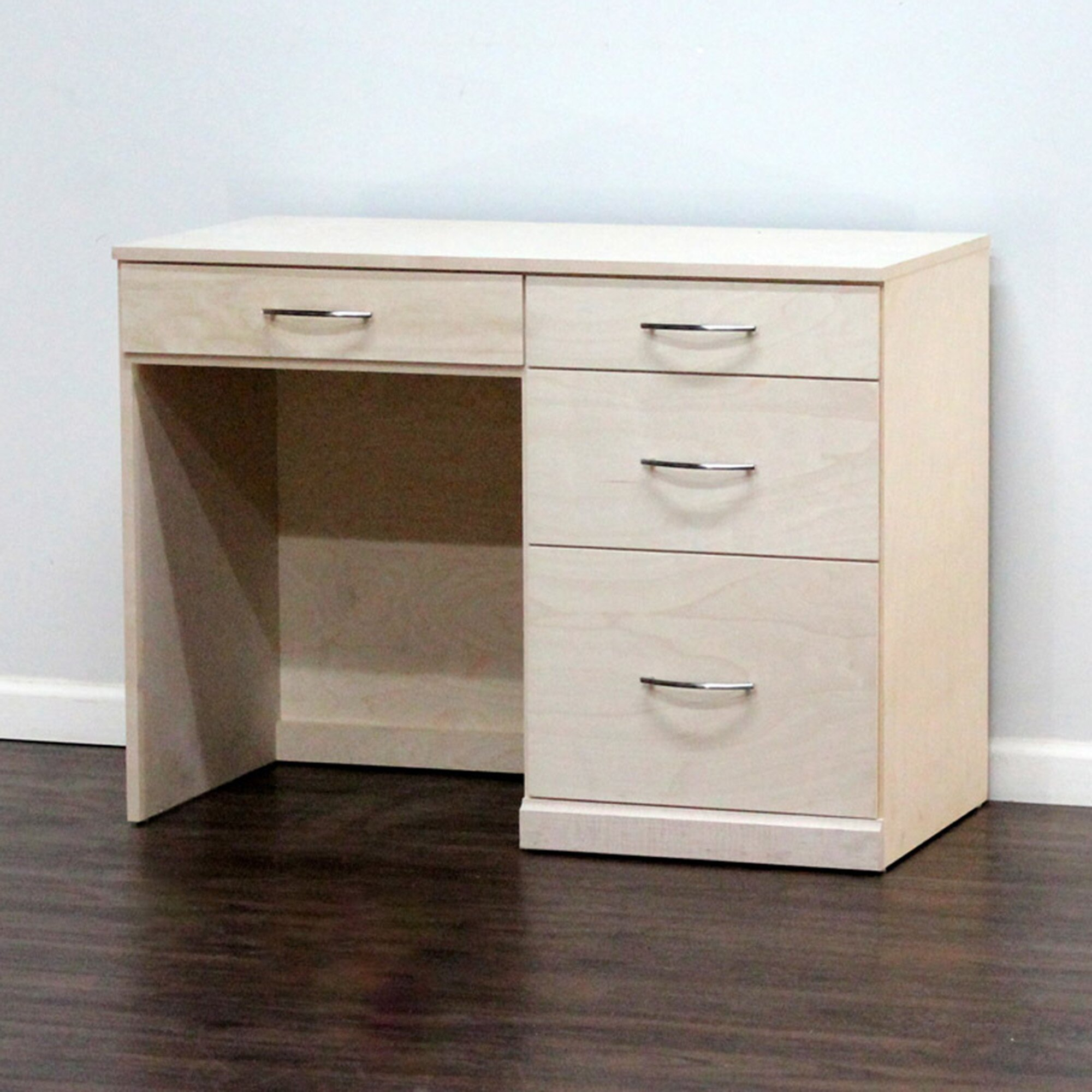 gothic furniture flat iron computer desk with 4 drawer wayfair. Black Bedroom Furniture Sets. Home Design Ideas